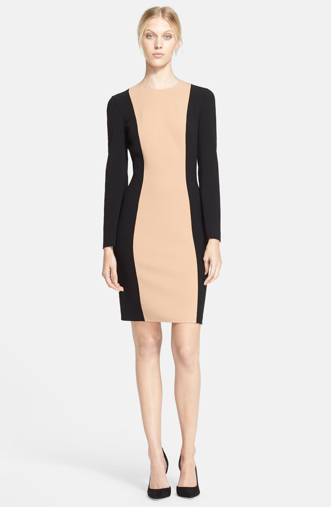 Main Image - Michael Kors Colorblock Crepe Dress