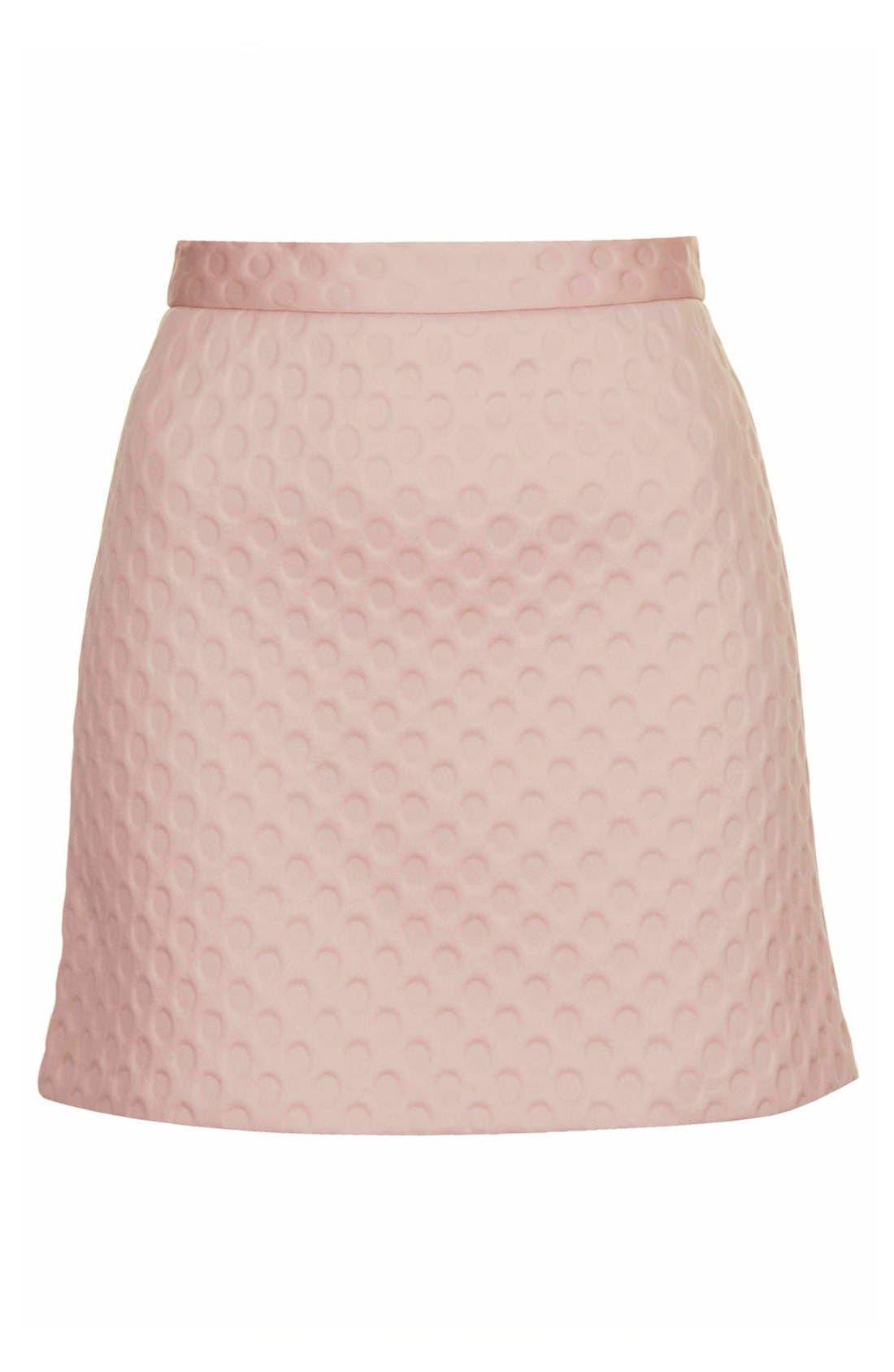 Alternate Image 3  - Topshop 'Foam Spot' Embossed Miniskirt