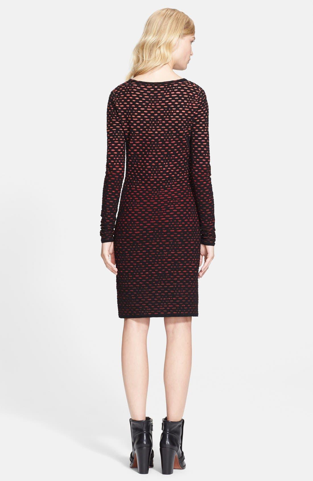 Alternate Image 2  - M Missoni Long Sleeve Bubble Knit Dress