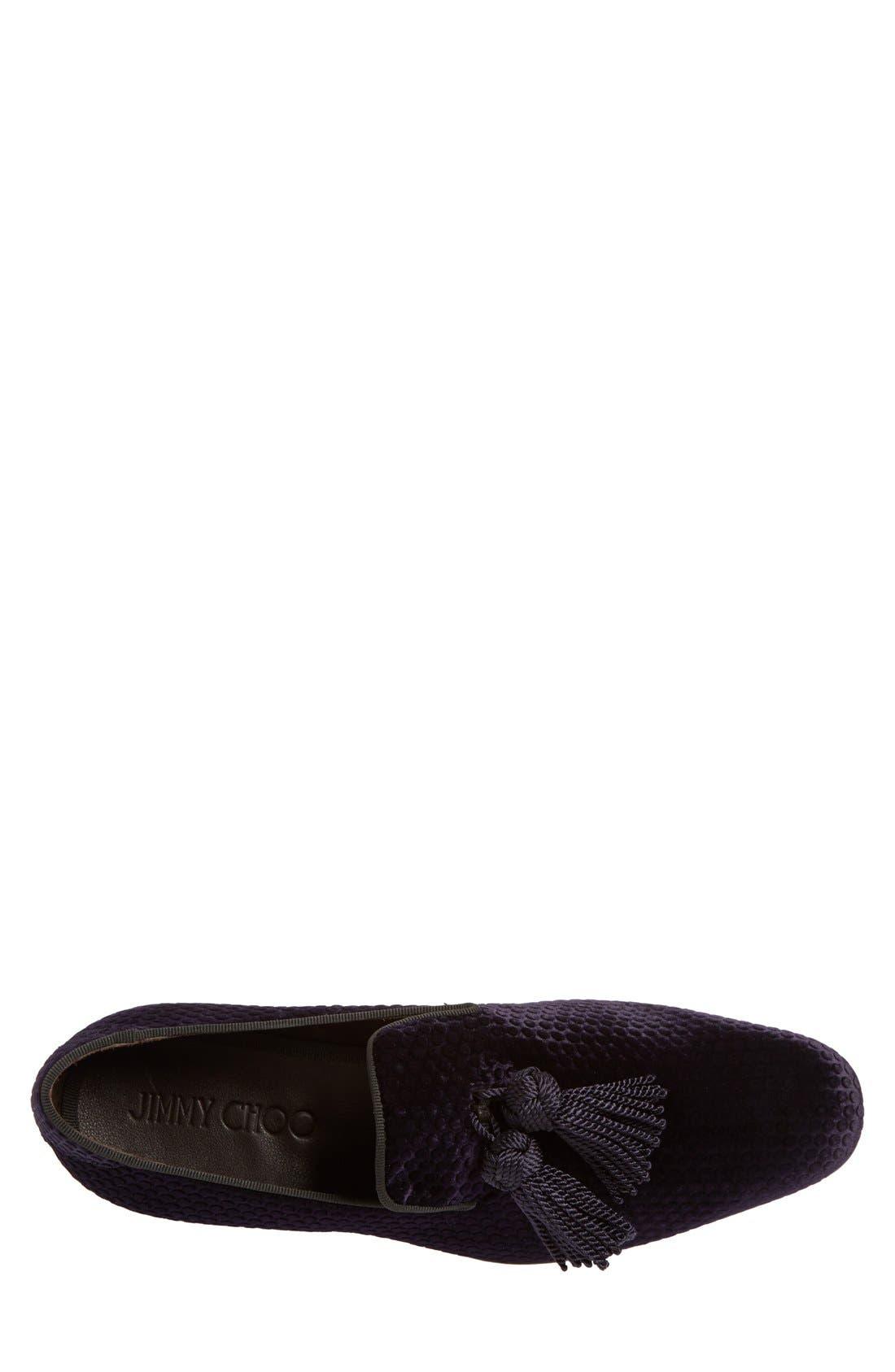 Alternate Image 3  - Jimmy Choo 'Foxley' Velvet Tassel Loafer (Men)