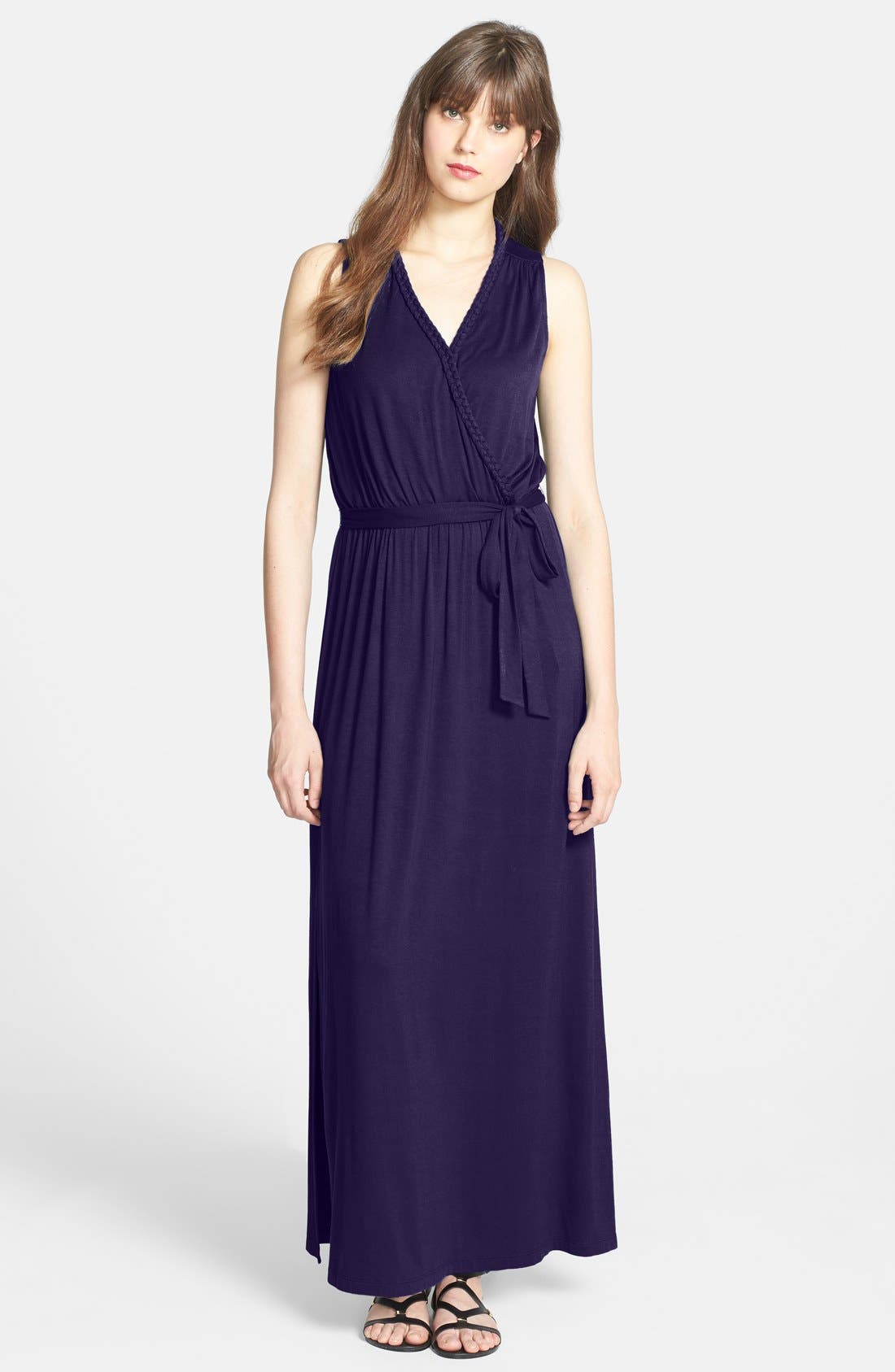 Alternate Image 1 Selected - KUT from the Kloth Faux Wrap Stretch Knit Maxi Dress