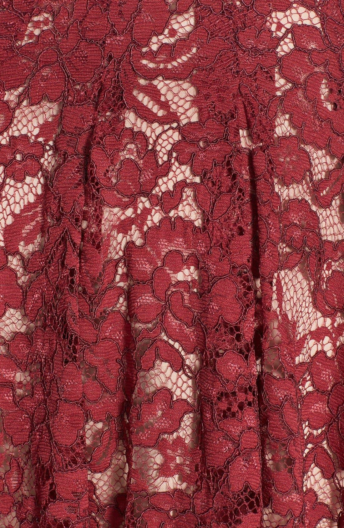 Alternate Image 3  - ASTR Lace Flare Skirt