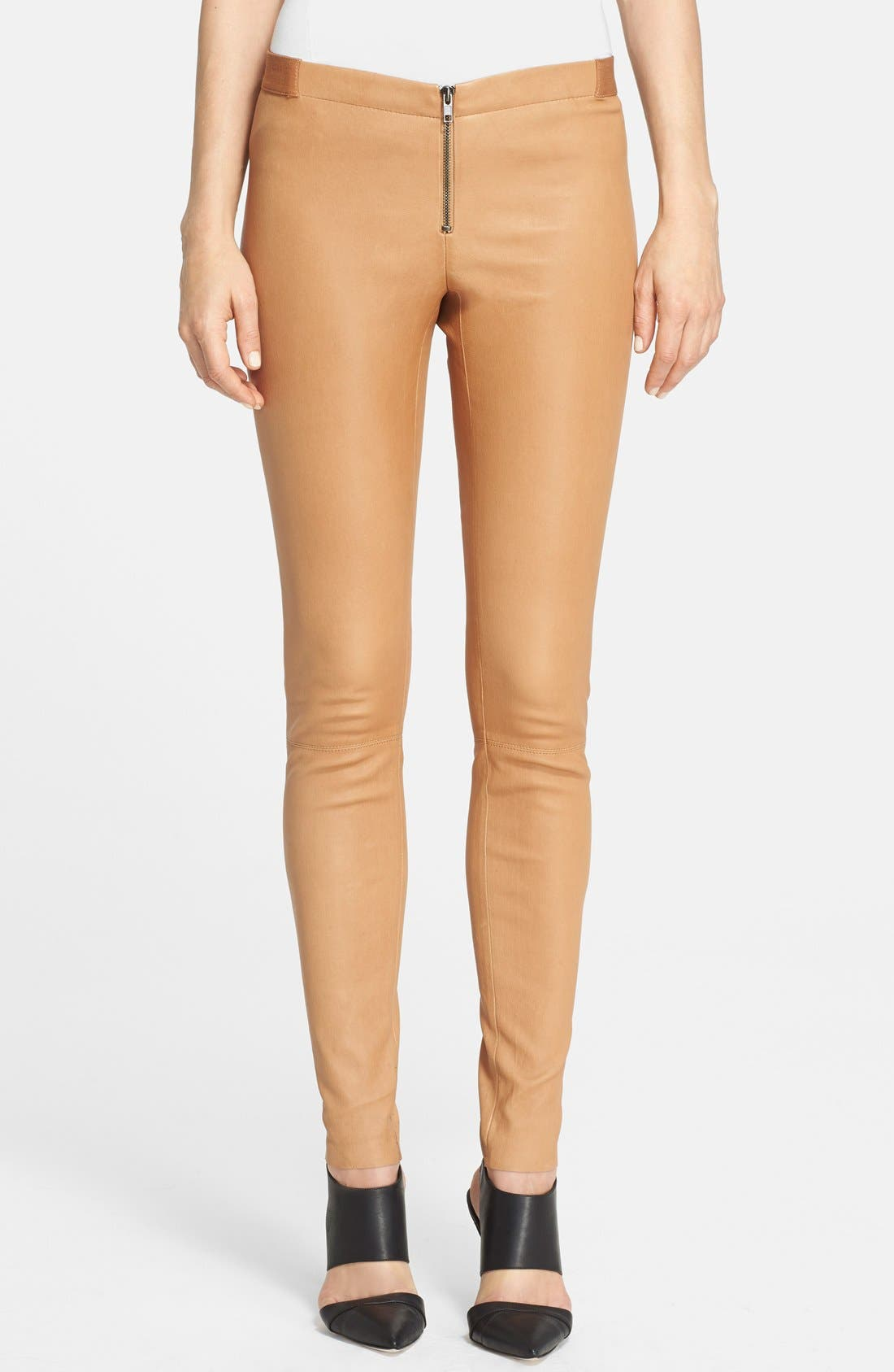 Alternate Image 1 Selected - Alice + Olivia Leather Leggings