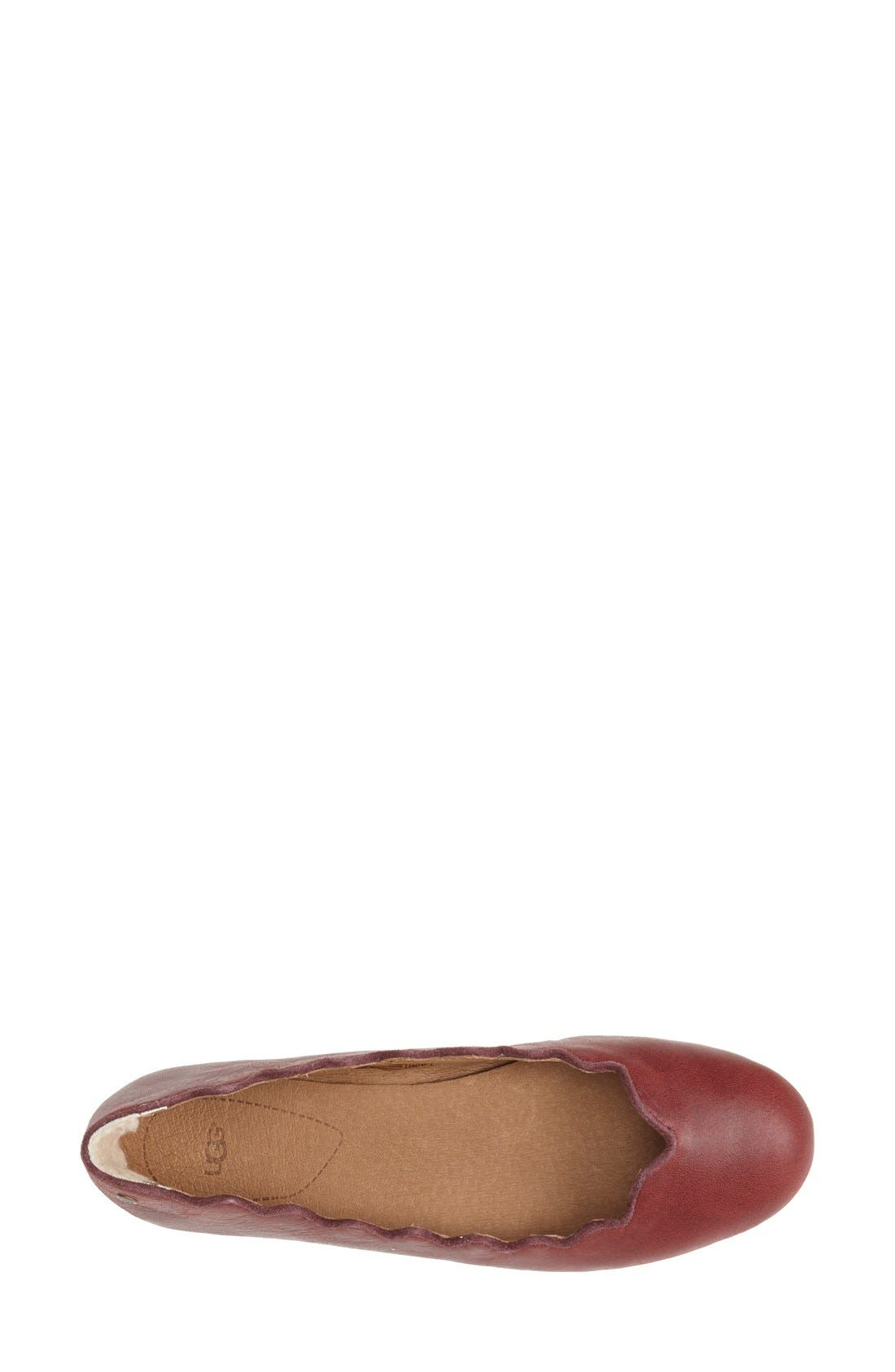 Alternate Image 3  - UGG® Australia 'Chandra' Scalloped Flat (Women)