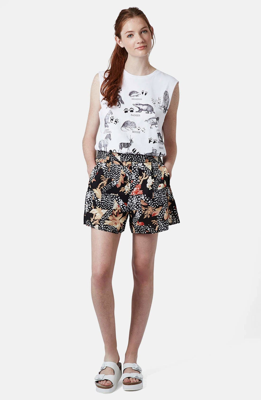 Alternate Image 5  - Topshop Toile Star Print Culottes