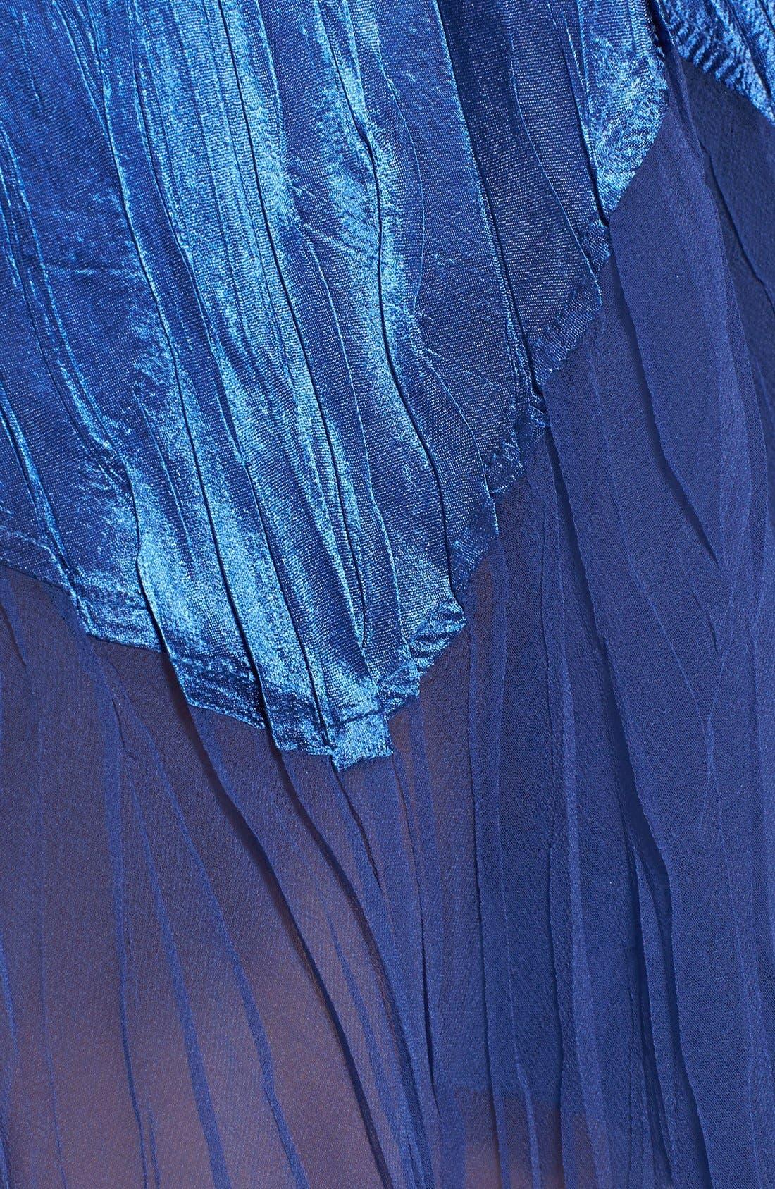 Alternate Image 4  - Komarov Beaded Pleated Charmeuse Dress & Jacket (Regular & Petite)