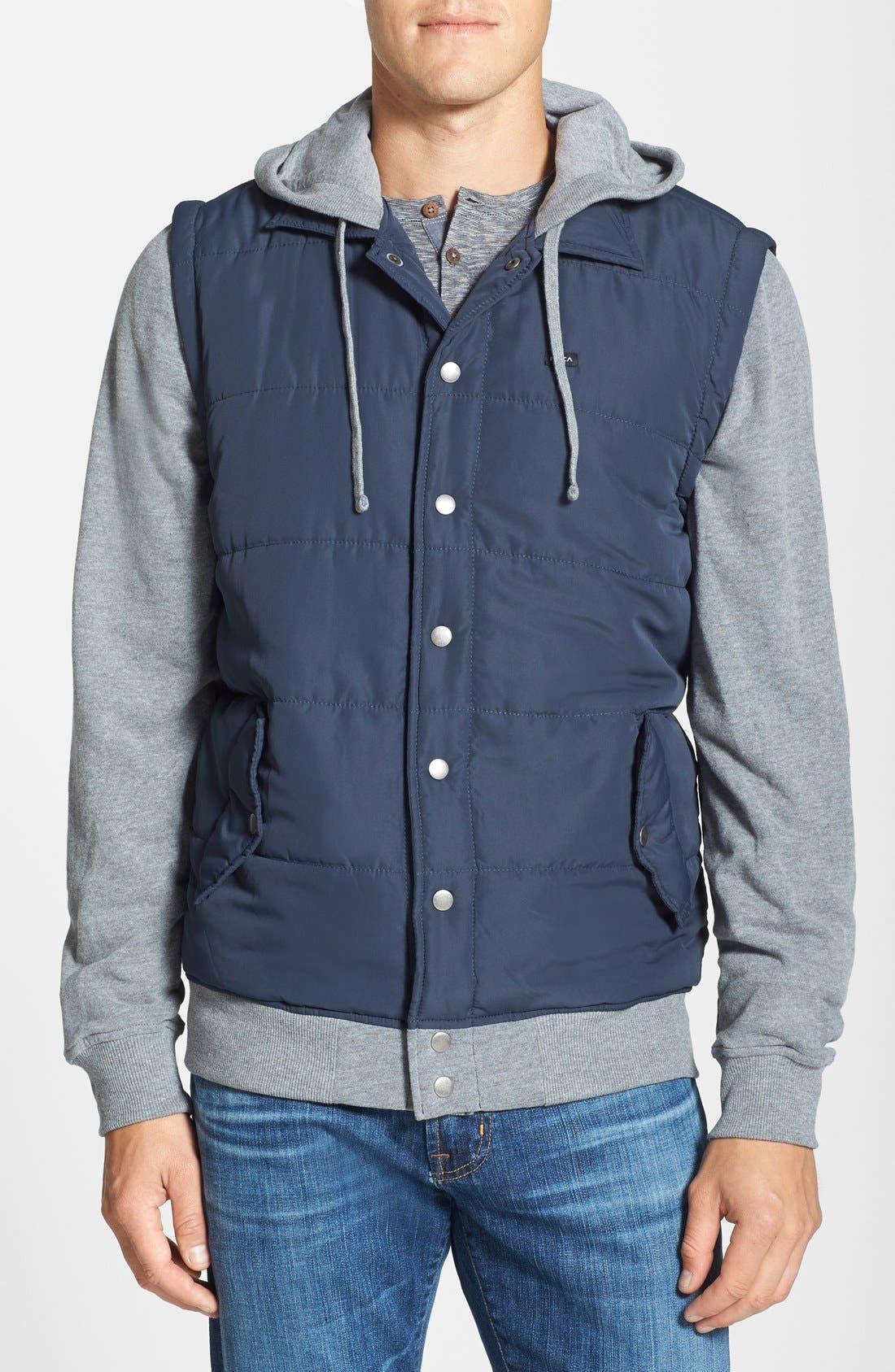 Alternate Image 1 Selected - RVCA Puffer Fleece Hooded Jacket