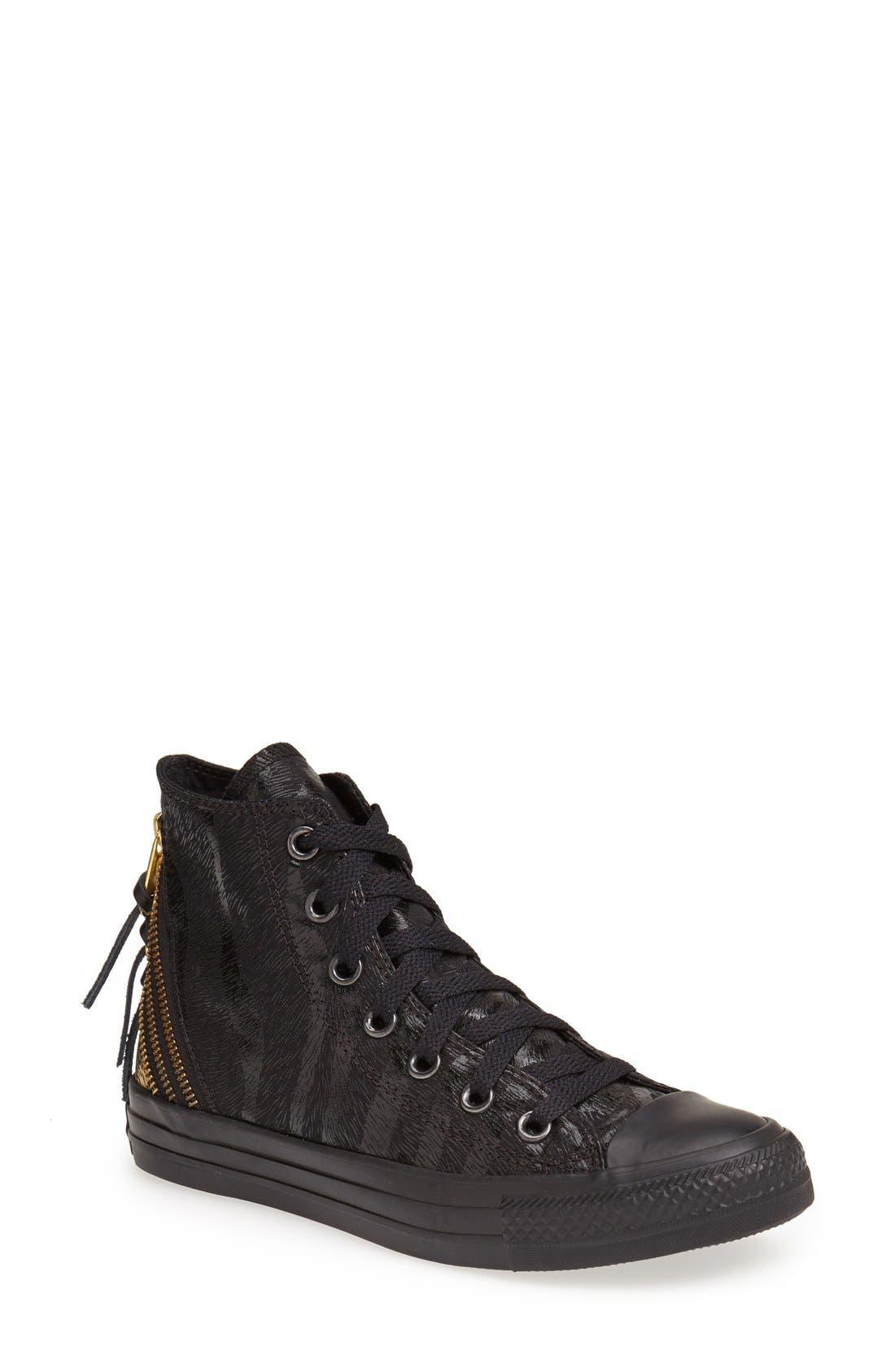 Alternate Image 1 Selected - Converse Chuck Taylor® All Star® 'Tri Zip' High Top Sneaker (Women)