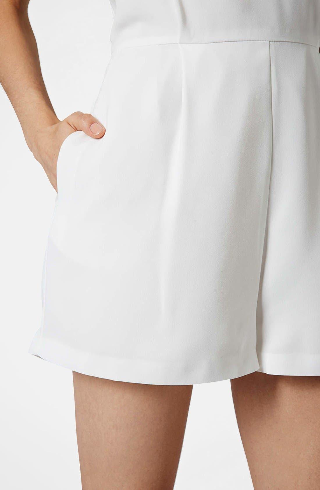 Alternate Image 4  - Topshop Lace Front Playsuit