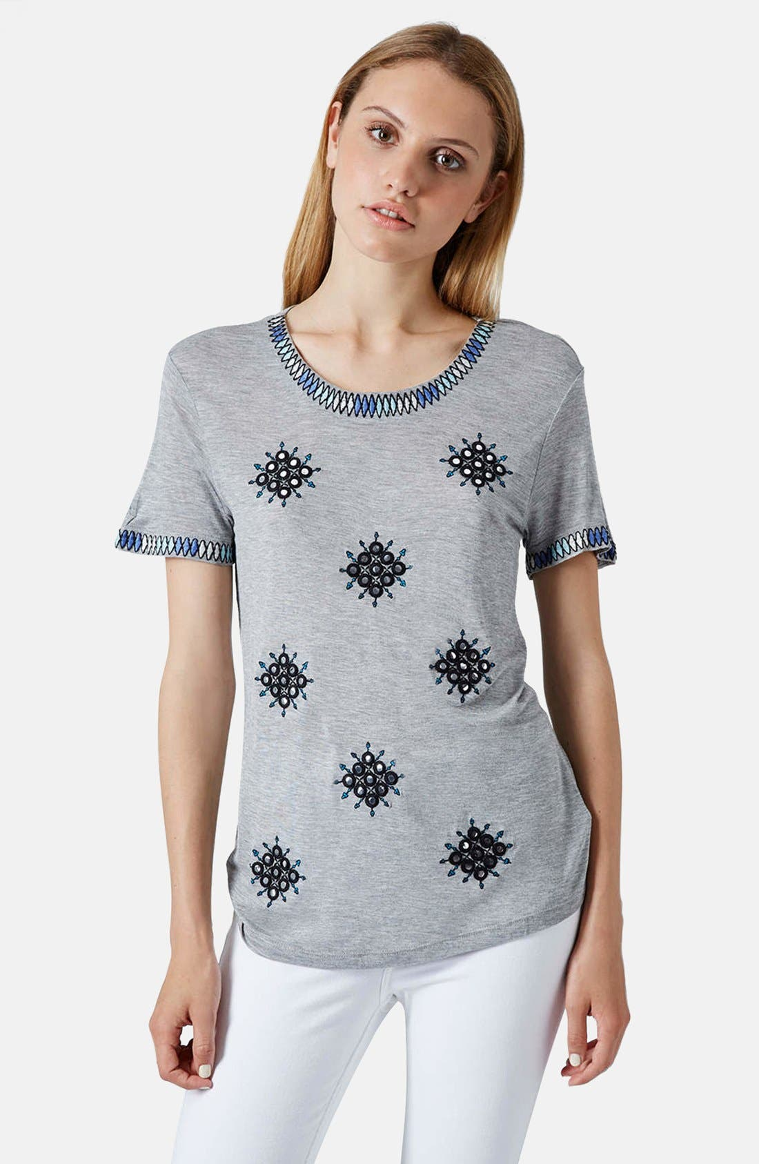 Alternate Image 1 Selected - Topshop Mirror Crewneck Tee