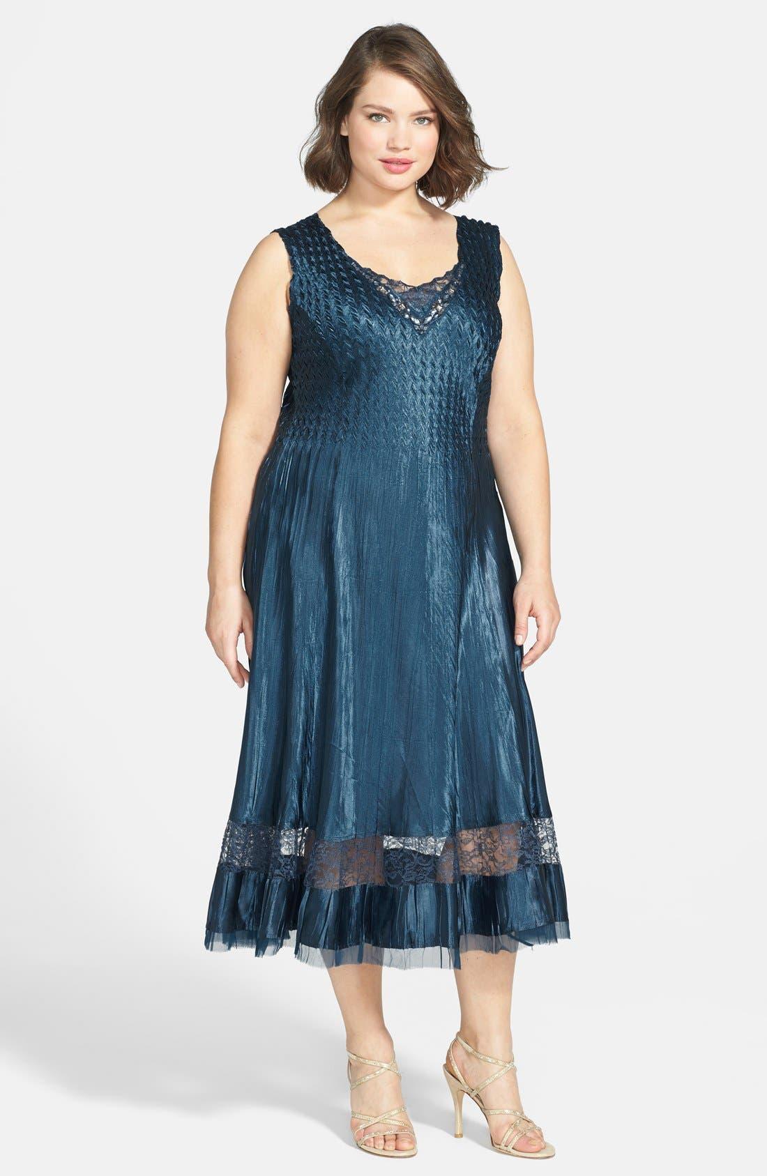 Alternate Image 3  - Komarov Embellished Charmeuse Dress & Chiffon Jacket (Plus Size)
