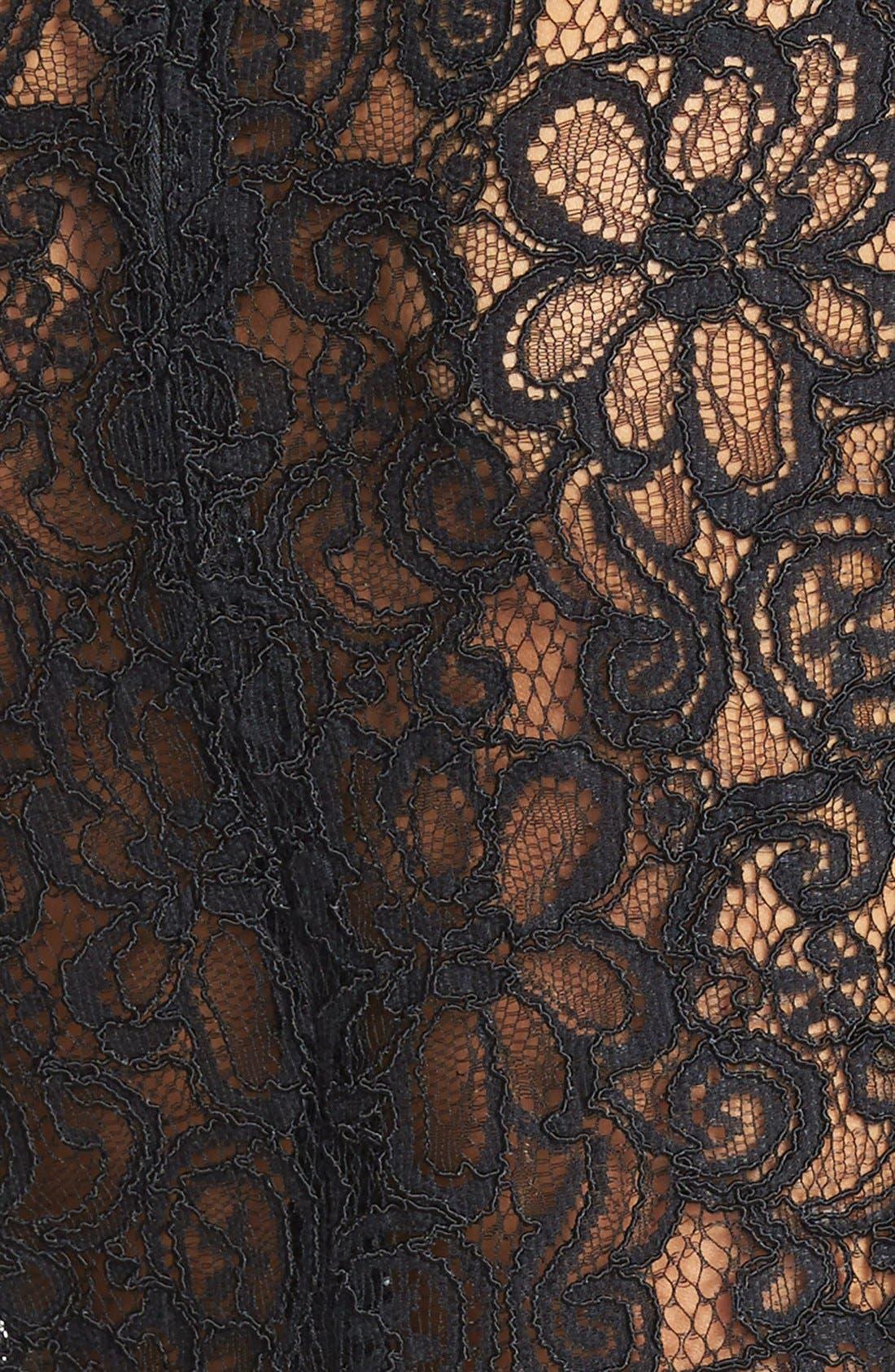 Alternate Image 4  - BB Dakota 'Chevis' Lace & Ponte Sheath Dress