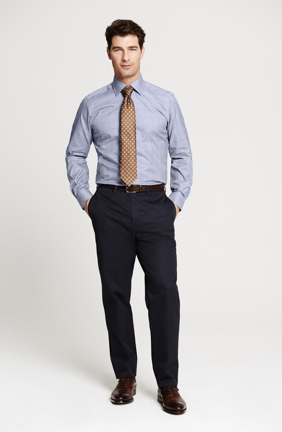 Alternate Image 6  - John W. Nordstrom® Smartcare™ Flat Front Supima® Cotton Pants