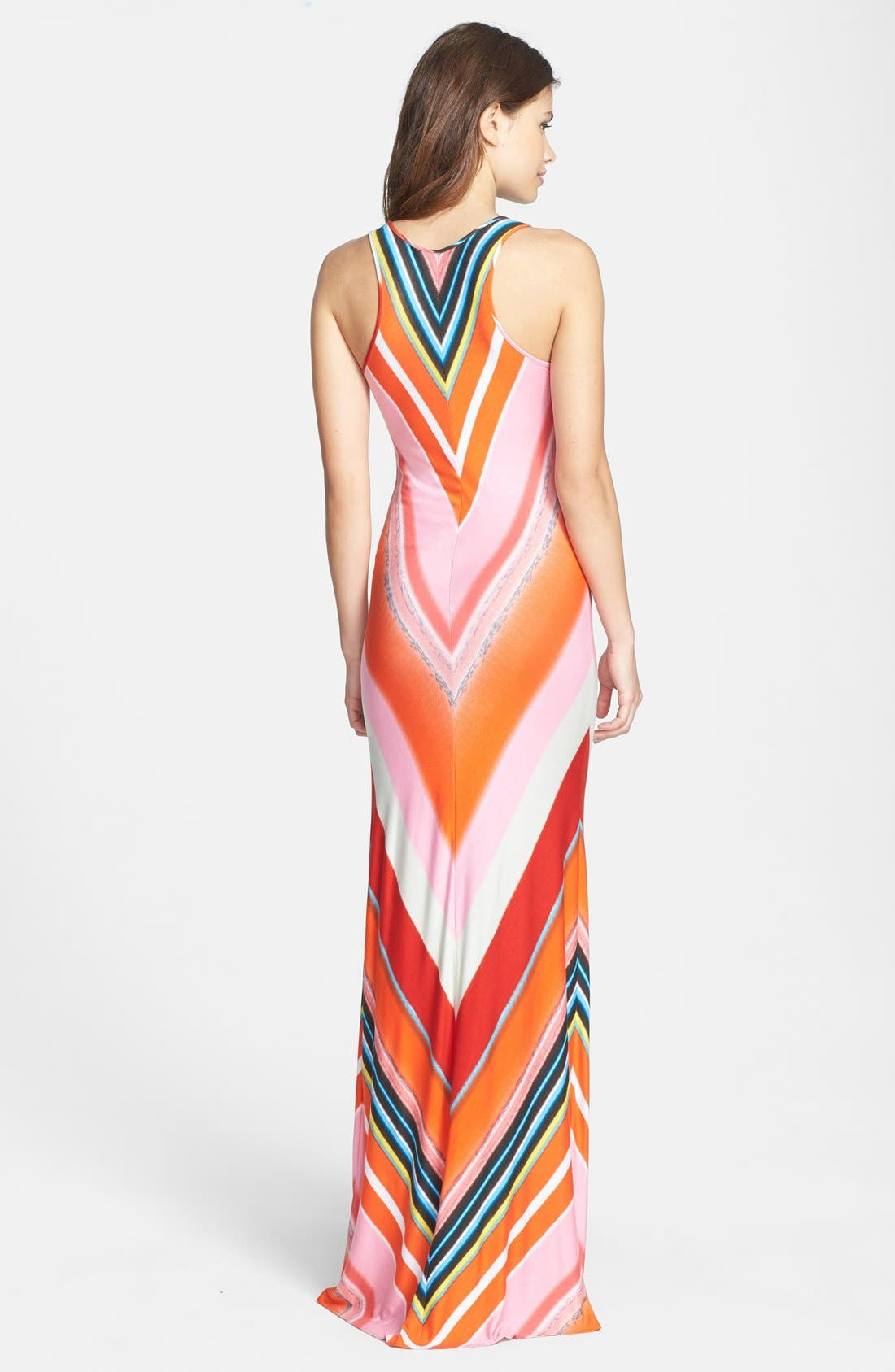 Alternate Image 2  - Felicity & Coco Multi Stripe Racerback Jersey Dress (Nordstrom Exclusive) (Regular & Petite)