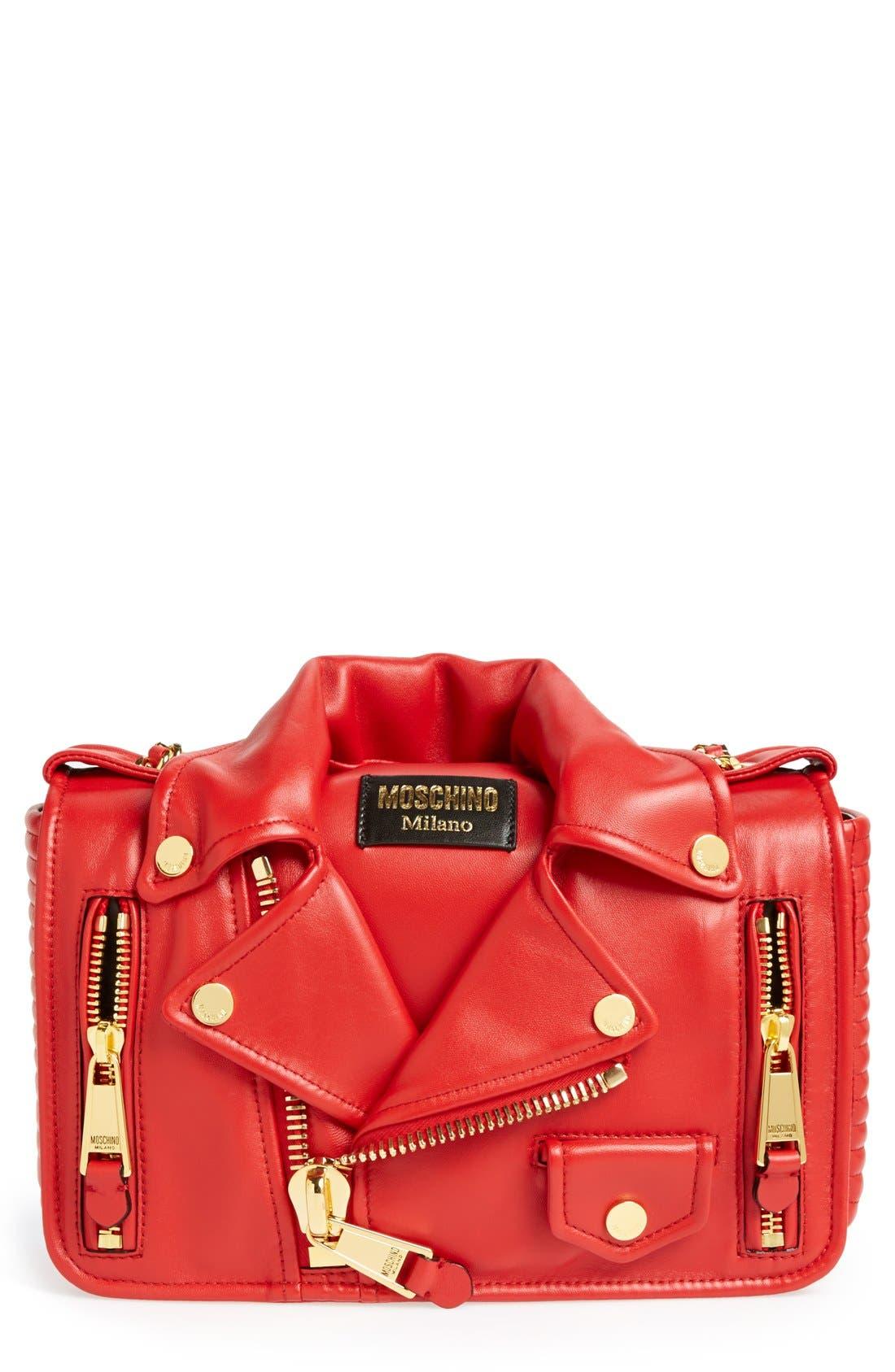 Alternate Image 1 Selected - Moschino 'Biker Jacket' Shoulder Bag