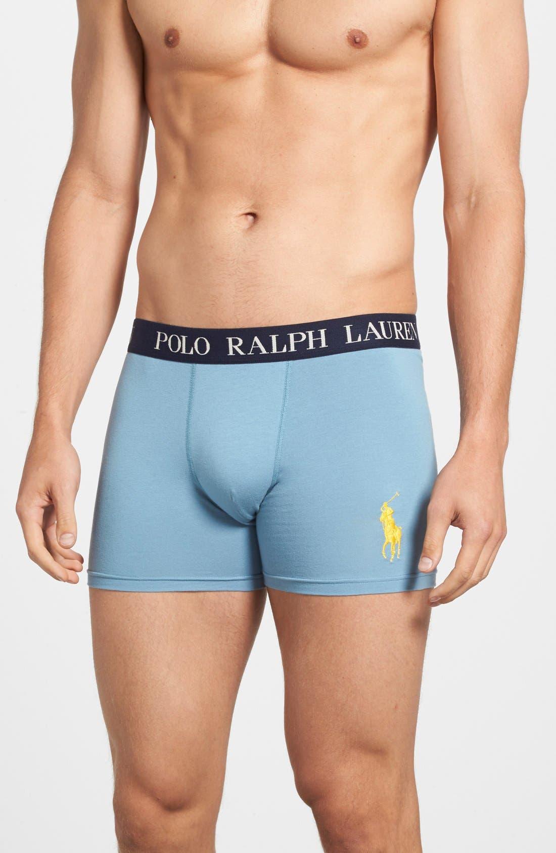 Main Image - Polo Ralph Lauren Stretch Cotton Boxer Briefs