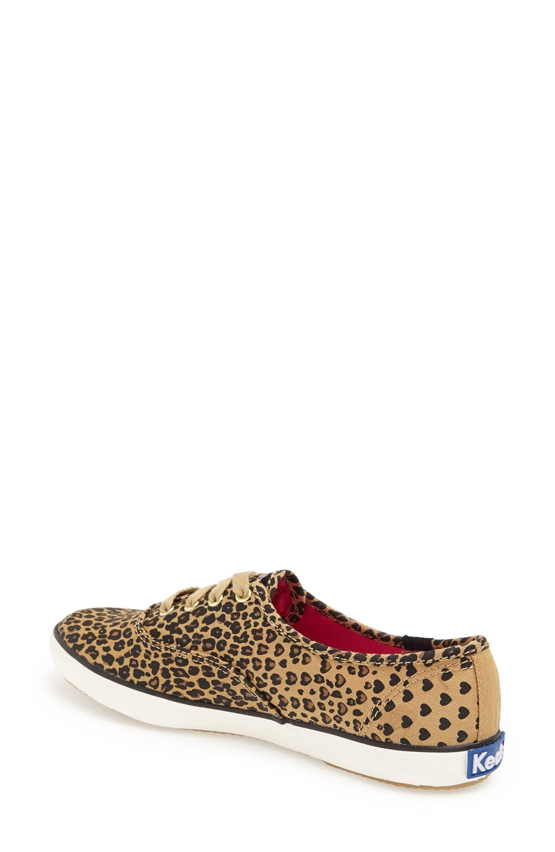 Alternate Image 2  - Keds® 'Champion - Leopard' Sneaker (Women)