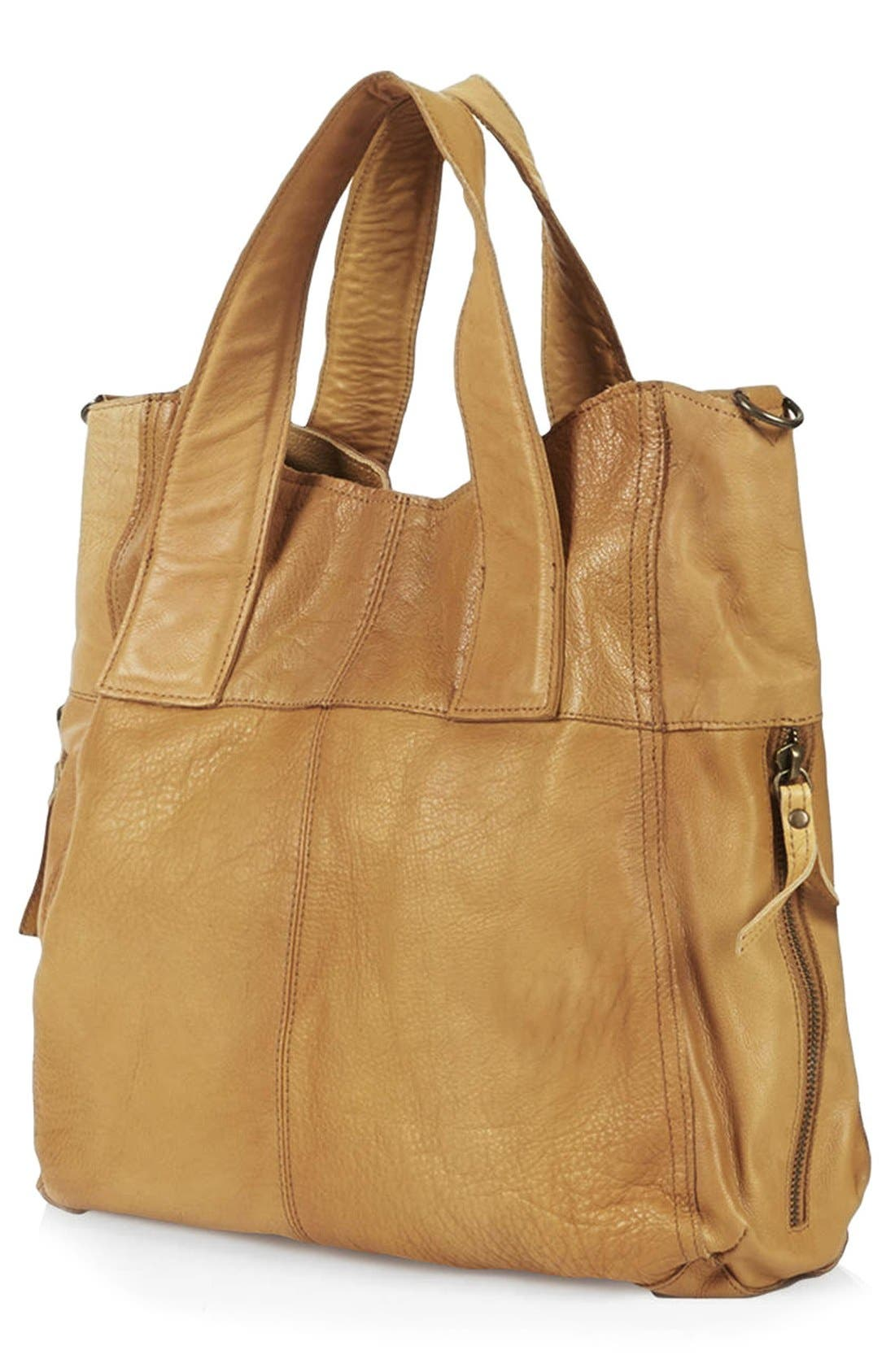 Alternate Image 2  - Topshop 'Alba' Leather Hobo Bag