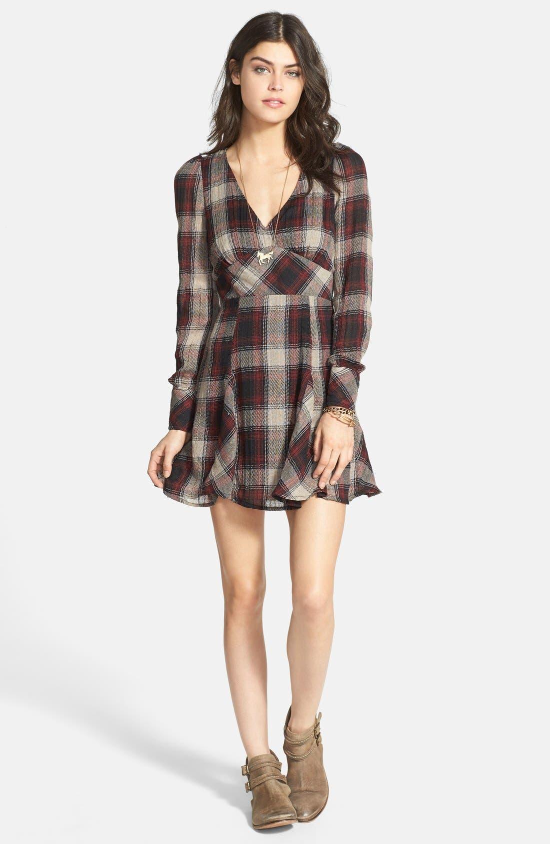 Alternate Image 3  - Free People 'Teen Spirit' Plaid Minidress