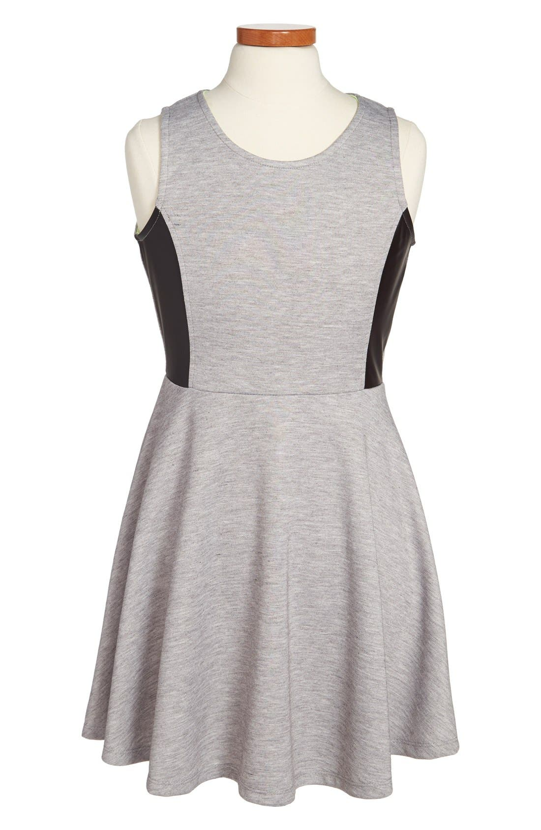 Main Image - W Girl Sleeveless Skater Dress (Big Girls)