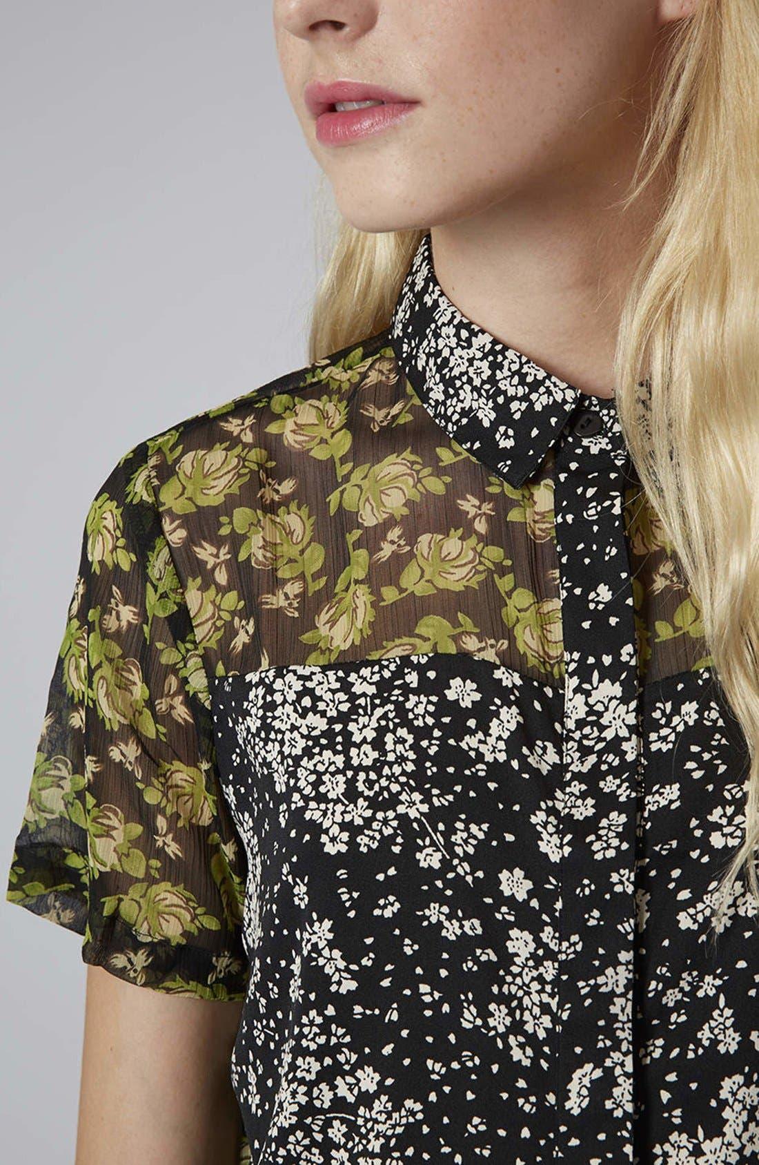 Alternate Image 4  - Topshop Reclaim To Wear Mix Print Shirt