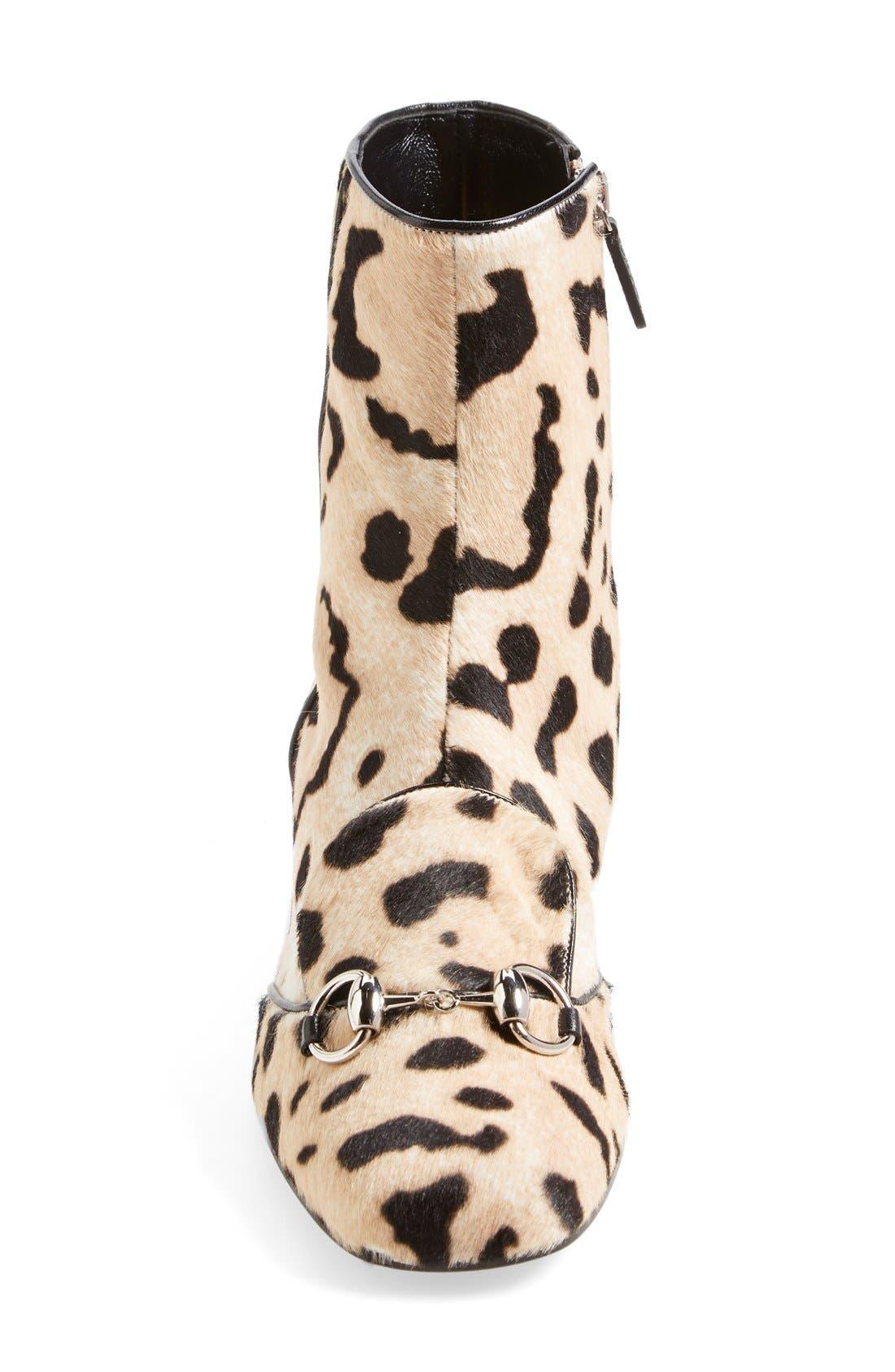 Alternate Image 3  - Gucci 'Lillian' Horsebit Animal Print Calf Hair Short Bootie (Women)