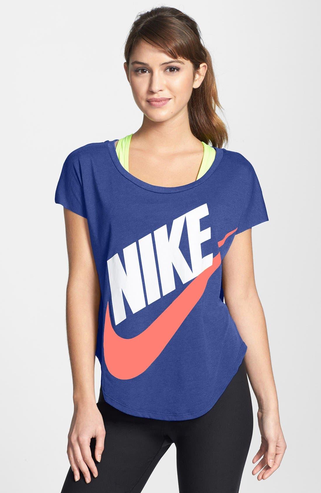 Alternate Image 1 Selected - Nike 'Signal' Short Sleeve Logo Tee