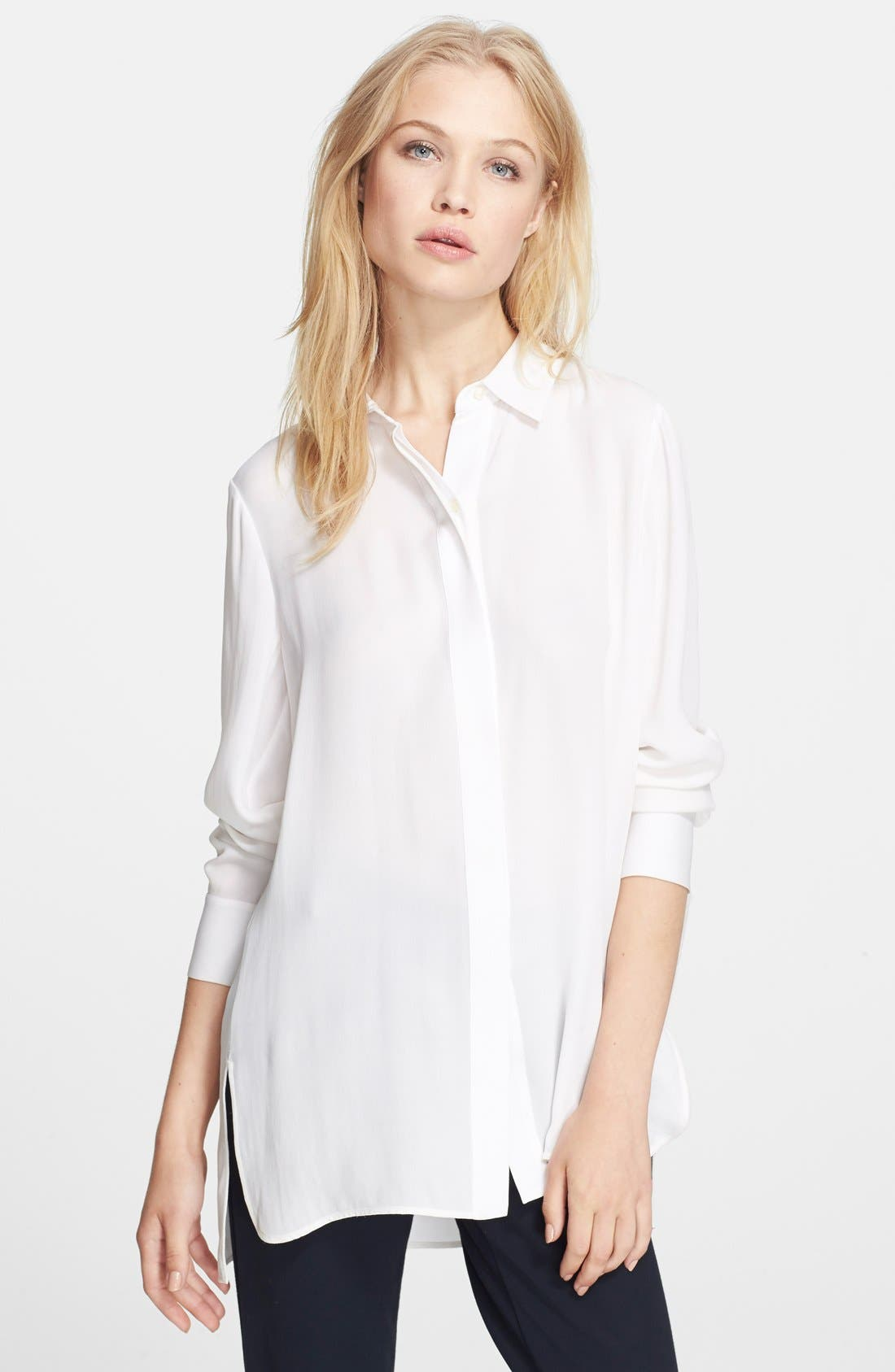 Alternate Image 1 Selected - Vince 'Classic' Button Front Top
