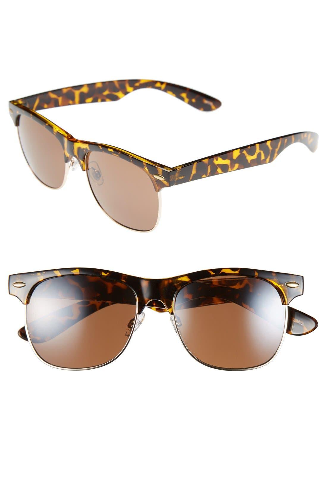 Main Image - Icon Eyewear 'Gloria' 53mm Retro Half Wire Frame Sunglasses (Juniors) (2 for $20)