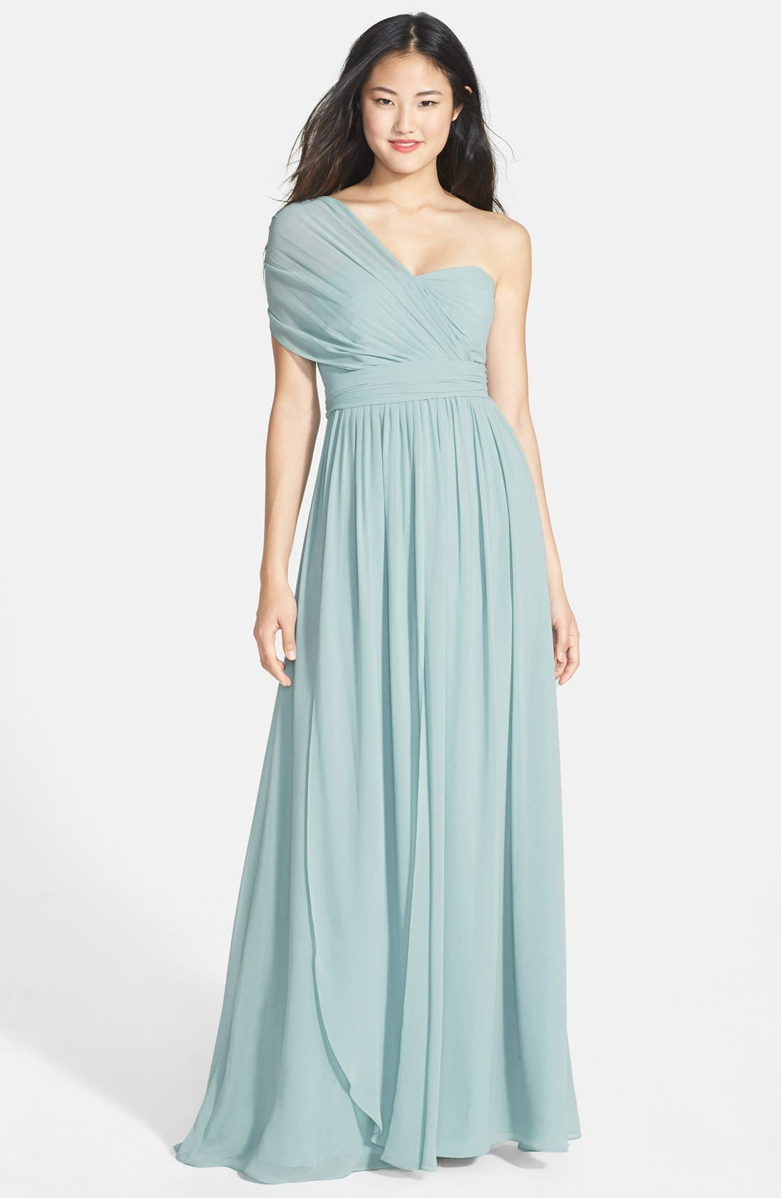 Alternate Image 5  - Jenny Yoo 'Aidan' Convertible Strapless Chiffon Gown