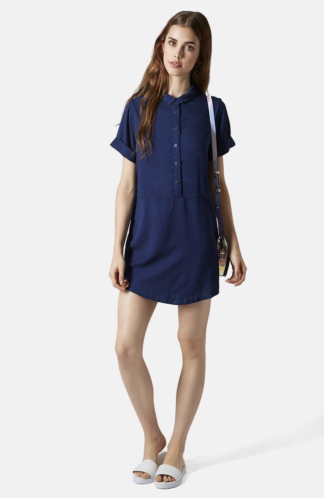 Alternate Image 5  - Topshop Denim Shirtdress