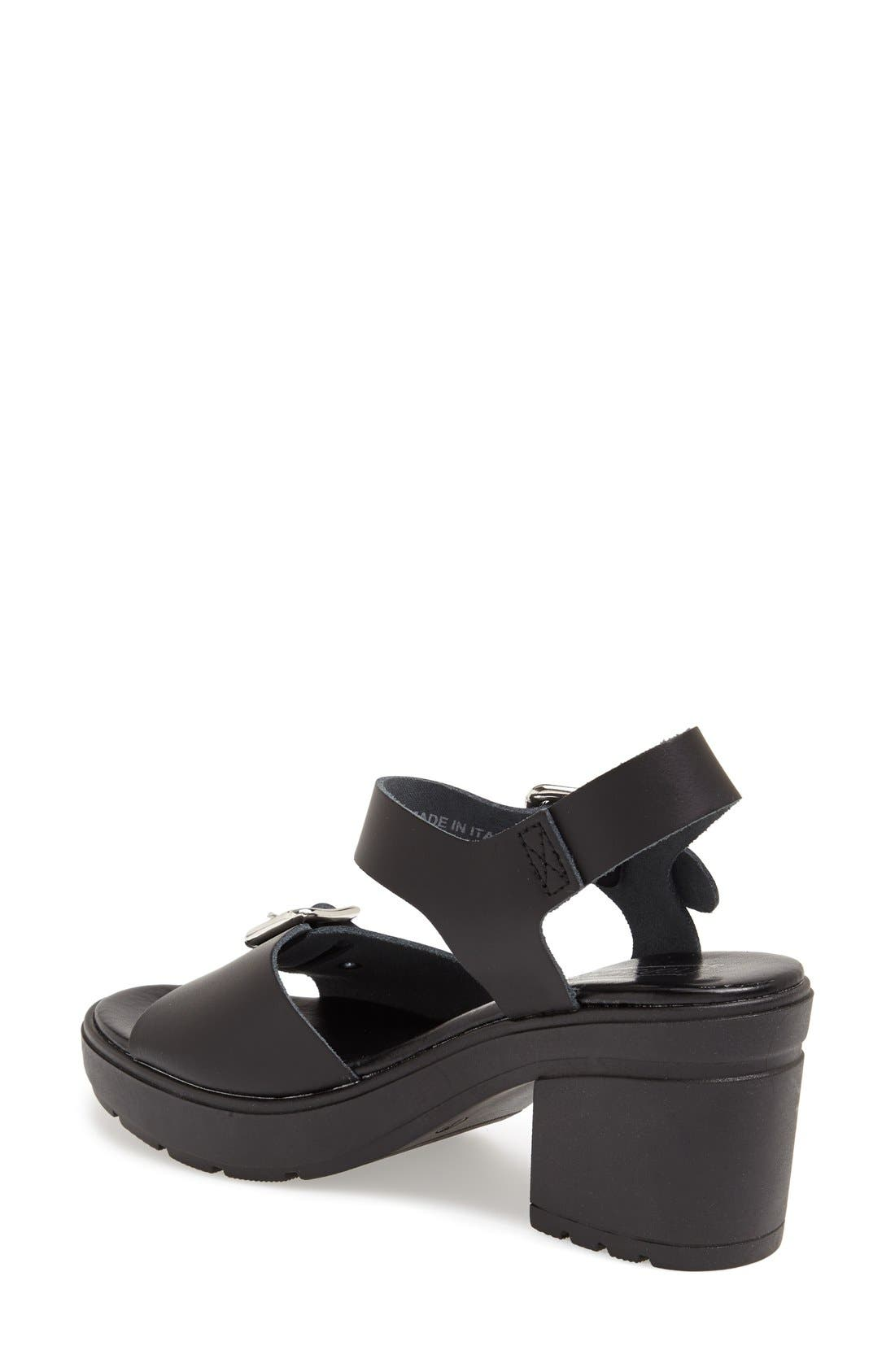 Alternate Image 2  - Topshop 'Niece' Platform Leather Sandal (Women)