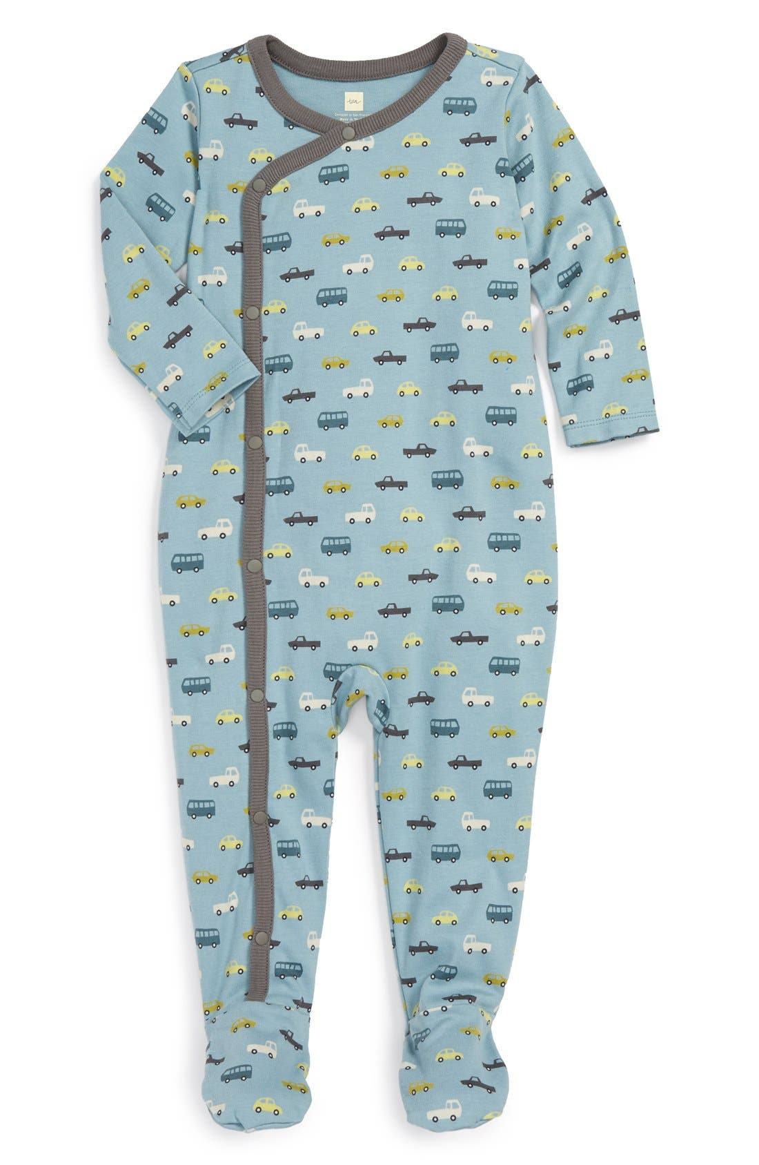 Main Image - Tea Collection 'Autobahn' One-Piece (Baby Boys)
