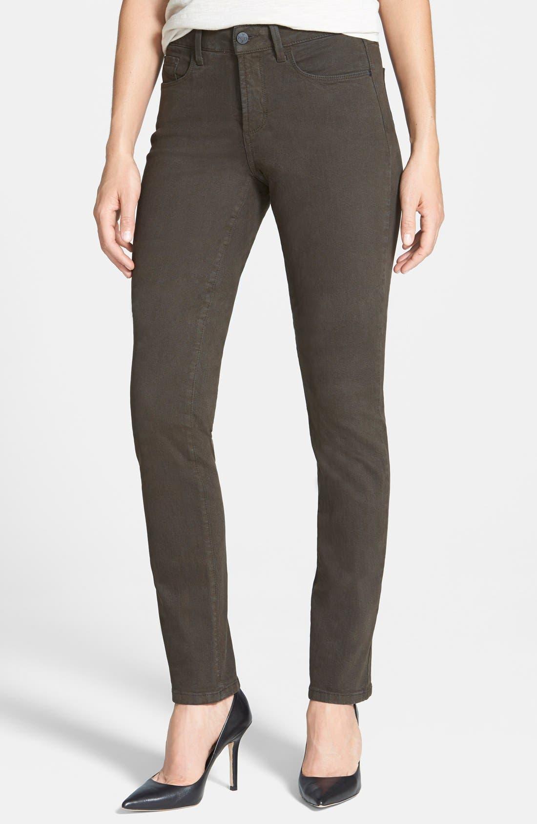 Alternate Image 1 Selected - NYDJ Sheri Colored Stretch Skinny Jeans (Petite)