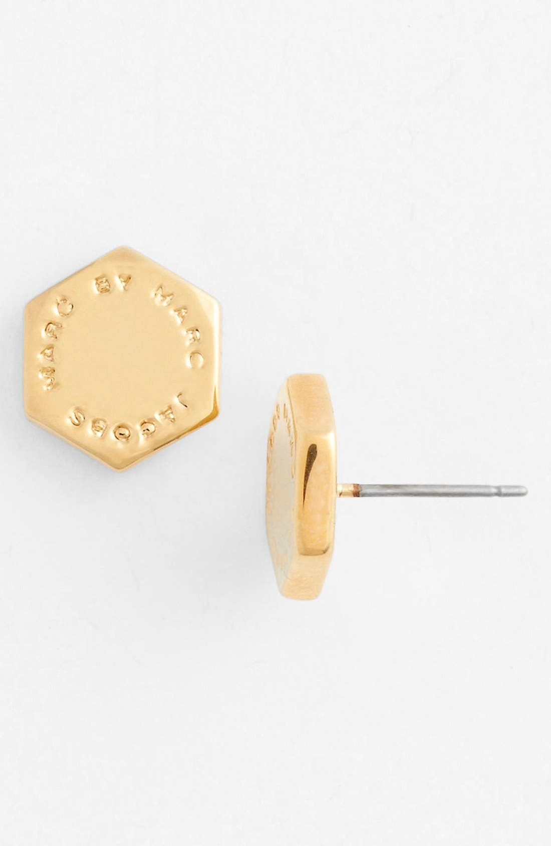 Main Image - MARC BY MARC JACOBS 'Bolts' Logo Stud Earrings