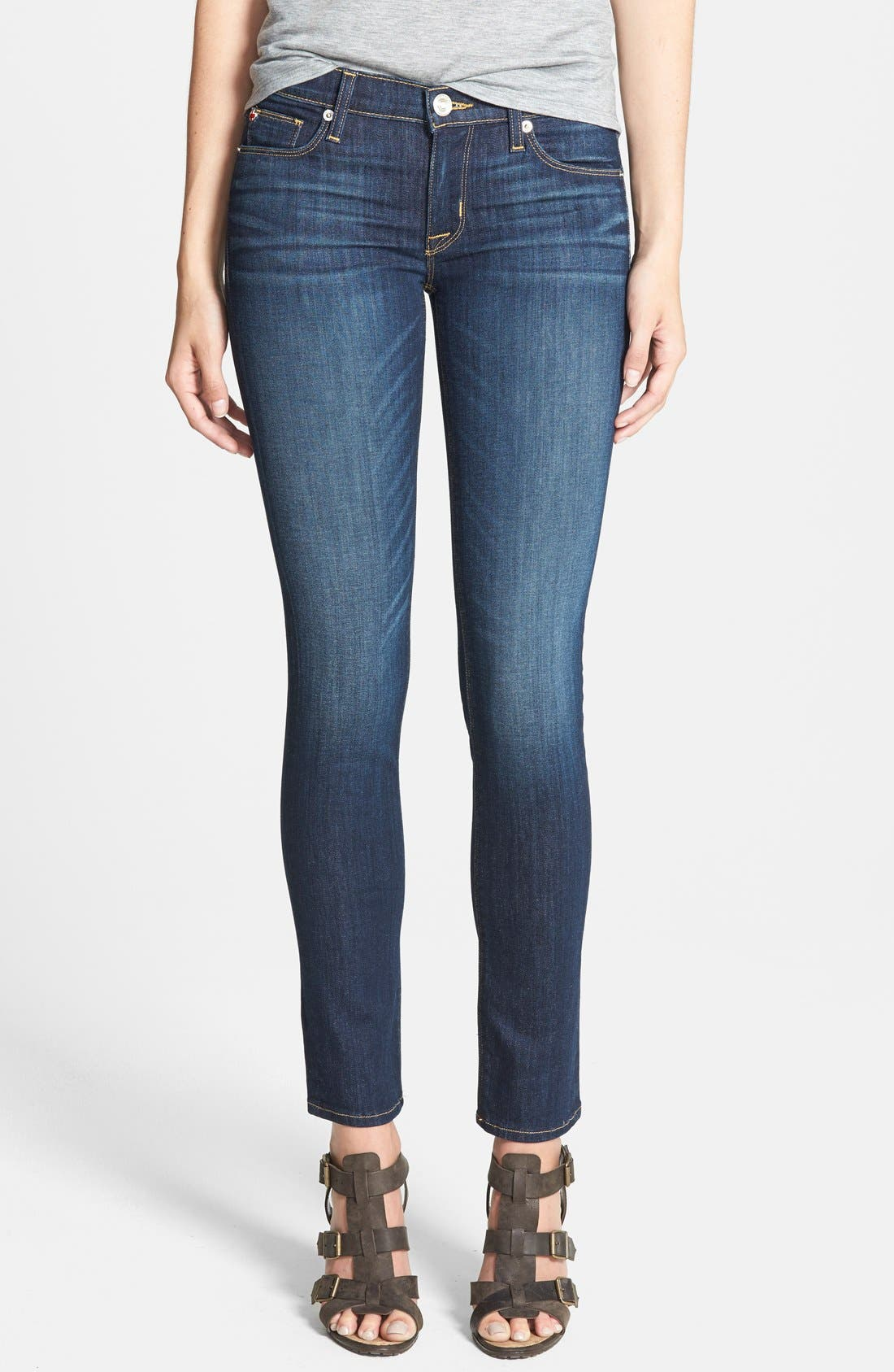 Alternate Image 1 Selected - Hudson Jeans 'Collette' Skinny Jeans (Stella)