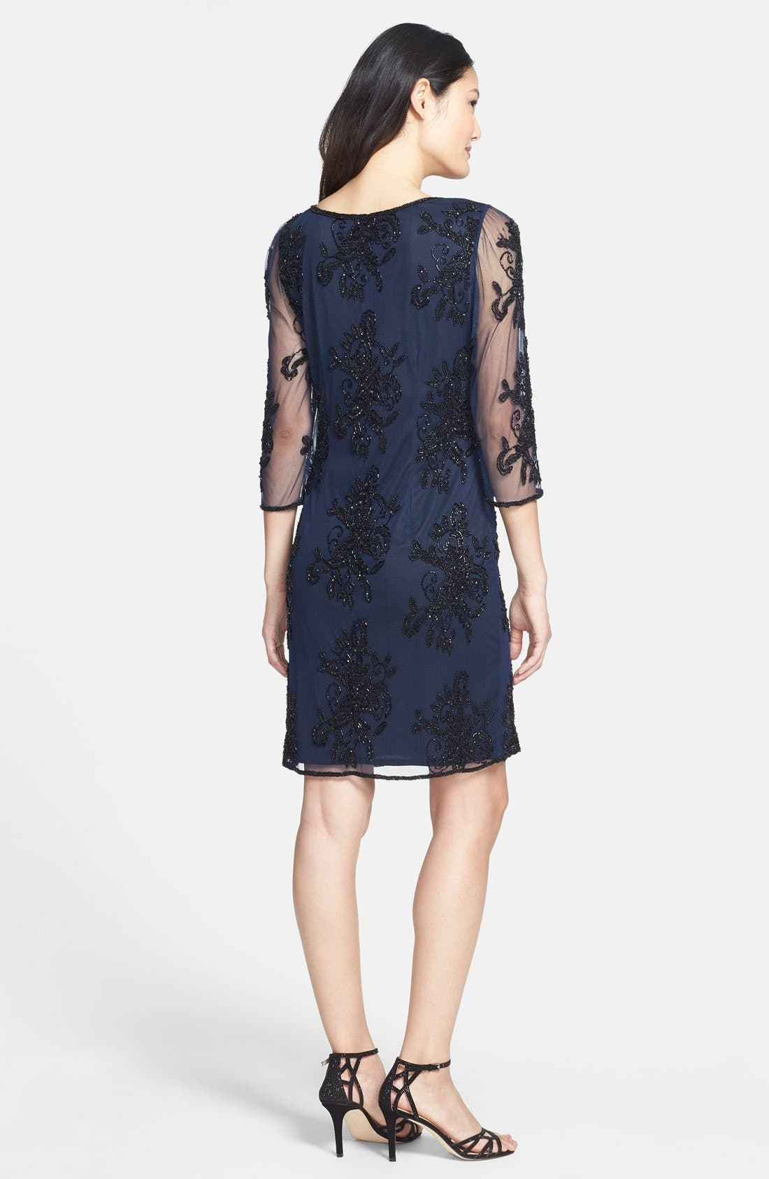 Alternate Image 2  - Pisarro Nights Embellished Sheer Sleeve Tulle Dress