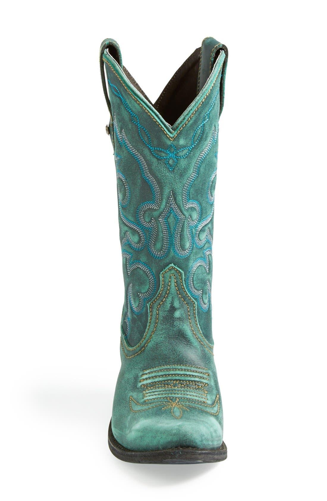 Alternate Image 3  - Liberty Black Western Leather Boot (Women)