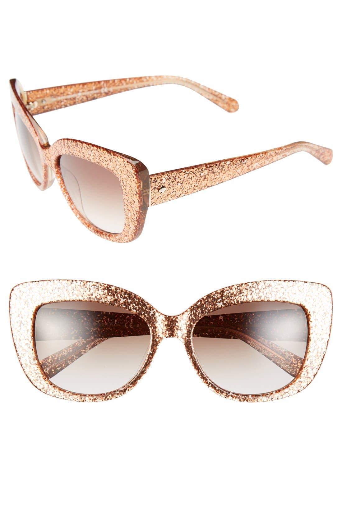 Main Image - kate spade new york 55mm cat eye sunglasses