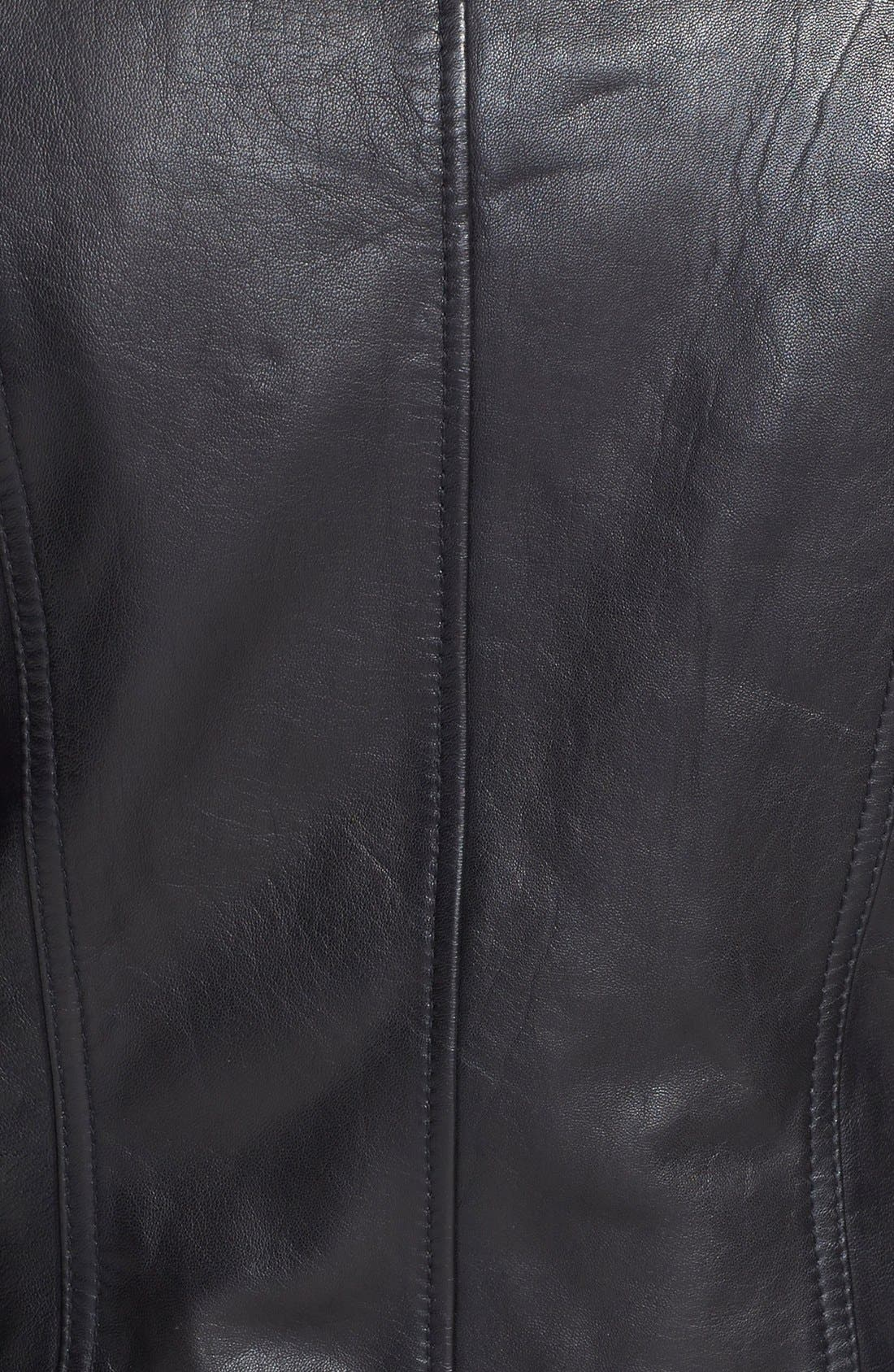 Alternate Image 4  - Vince Camuto Faux Shearling Trim Lambskin Leather Jacket