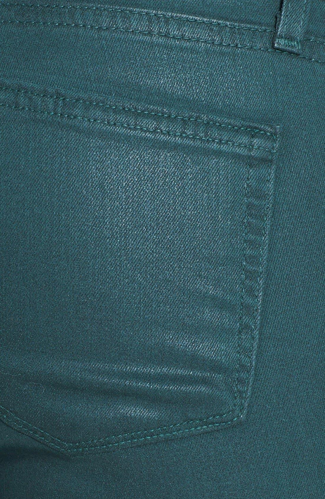 Alternate Image 3  - Paige Denim 'Verdugo' Coated Ultra Skinny Ankle Jeans (Forest Silk)