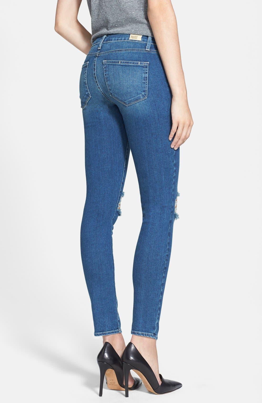 Alternate Image 2  - Paige Denim 'Verdugo' Destroyed Ankle Skinny Jeans (Belmont)