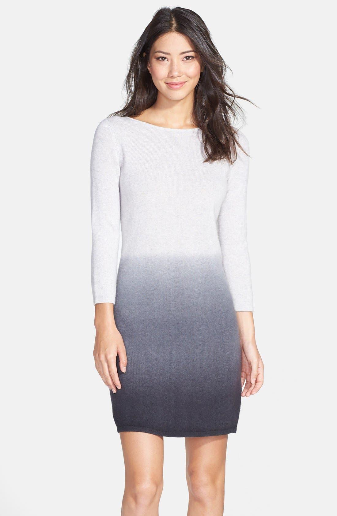 Alternate Image 1 Selected - Only Mine Dip Dye Wool & Cashmere Sweater Dress (Regular & Petite)