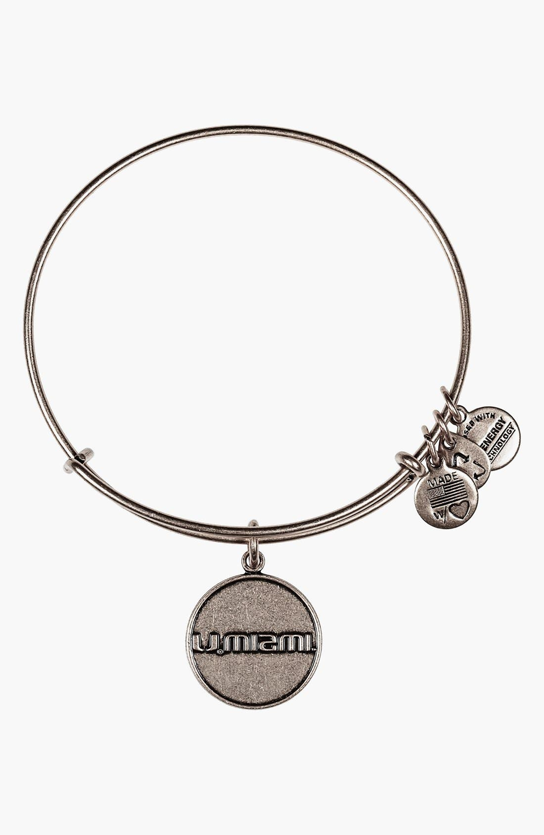 Alternate Image 1 Selected - Alex and Ani 'Collegiate - University of Miami' Expandable Charm Bangle