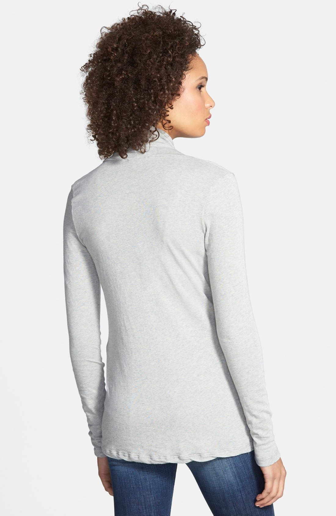 Alternate Image 2  - James Perse Skinny Cowl Cashmere Top