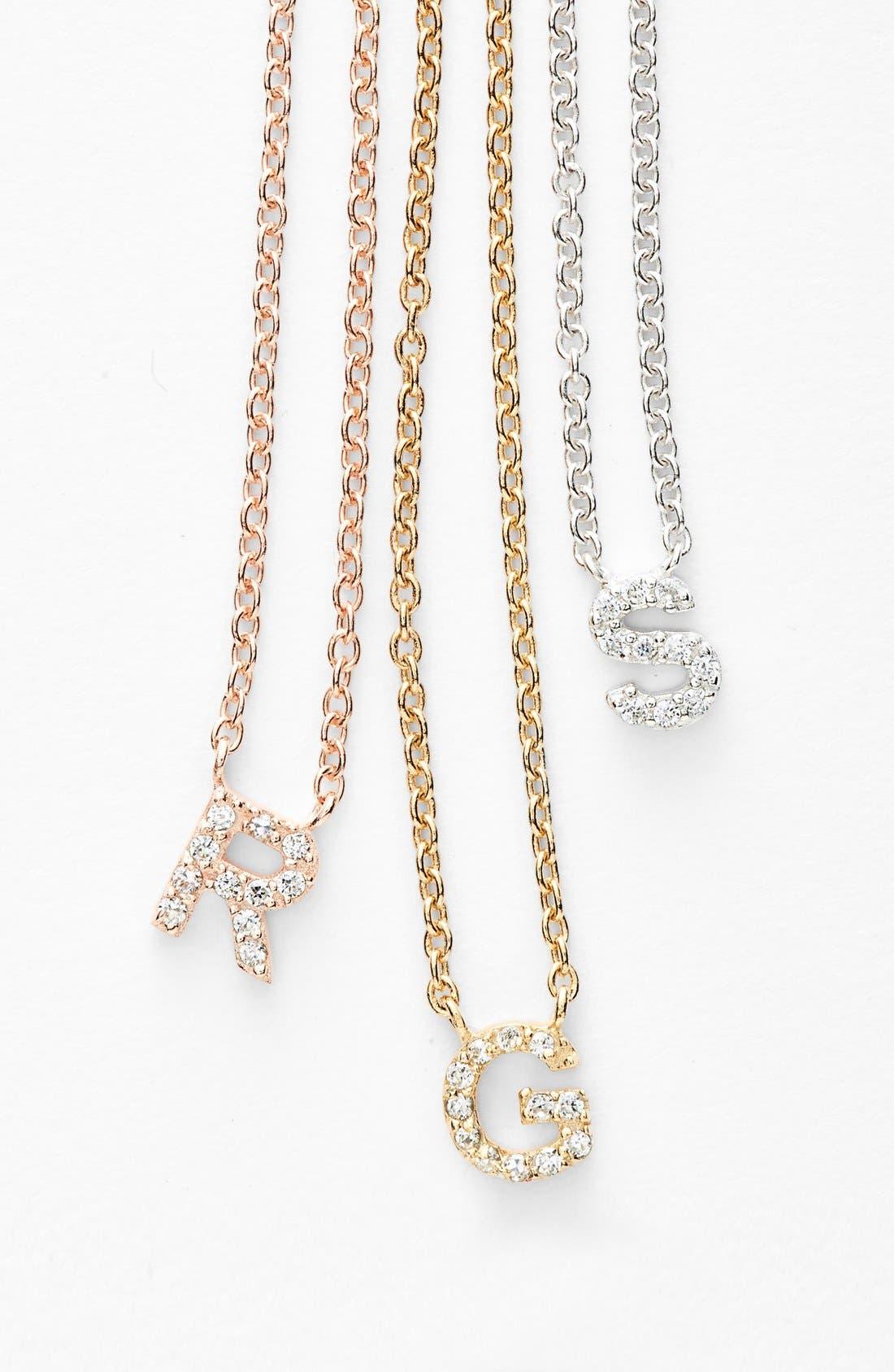 Alternate Image 3  - Sugar Bean Jewelry 'Initial' Pendant Necklace