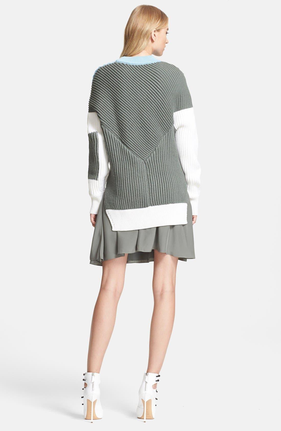 Alternate Image 2  - Prabal Gurung Colorblock Chunky Knit Sweater