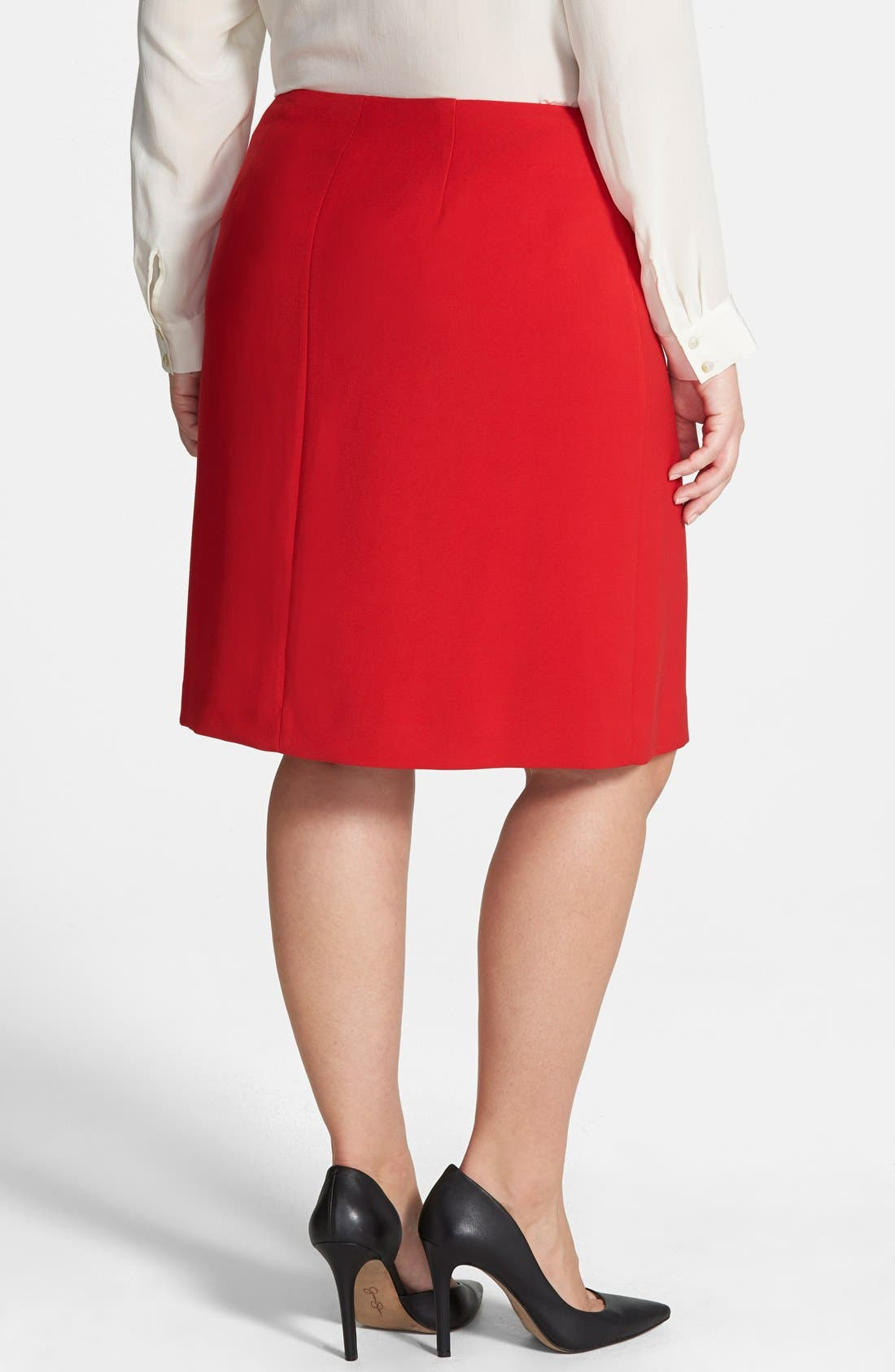 Alternate Image 2  - Anne Klein A-Line Skirt (Plus Size)