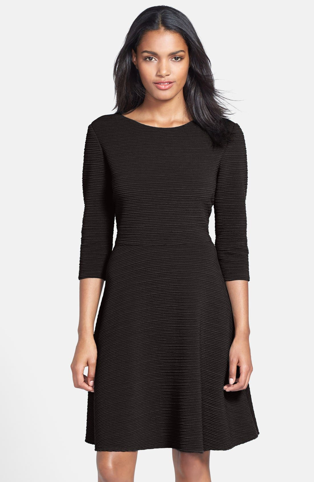 Main Image - Donna Morgan Textured Fit & Flare Dress