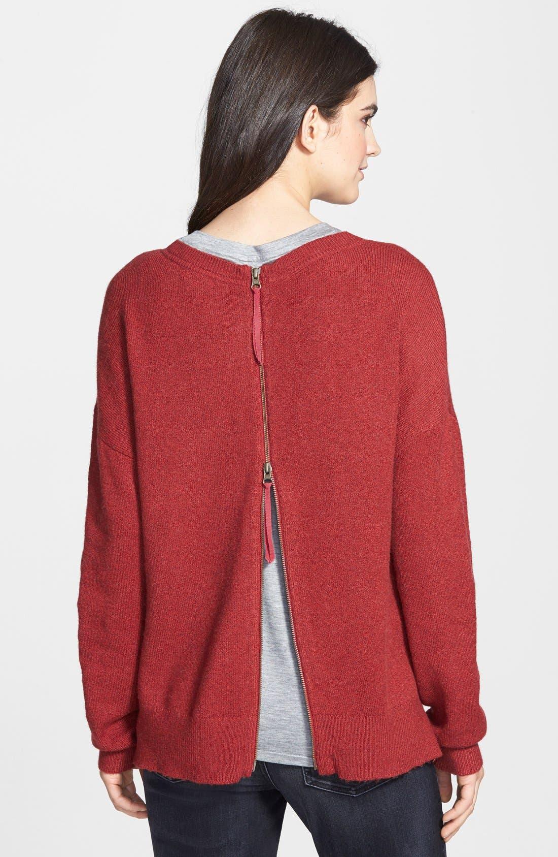 Alternate Image 2  - Hinge Zip Back Sweater
